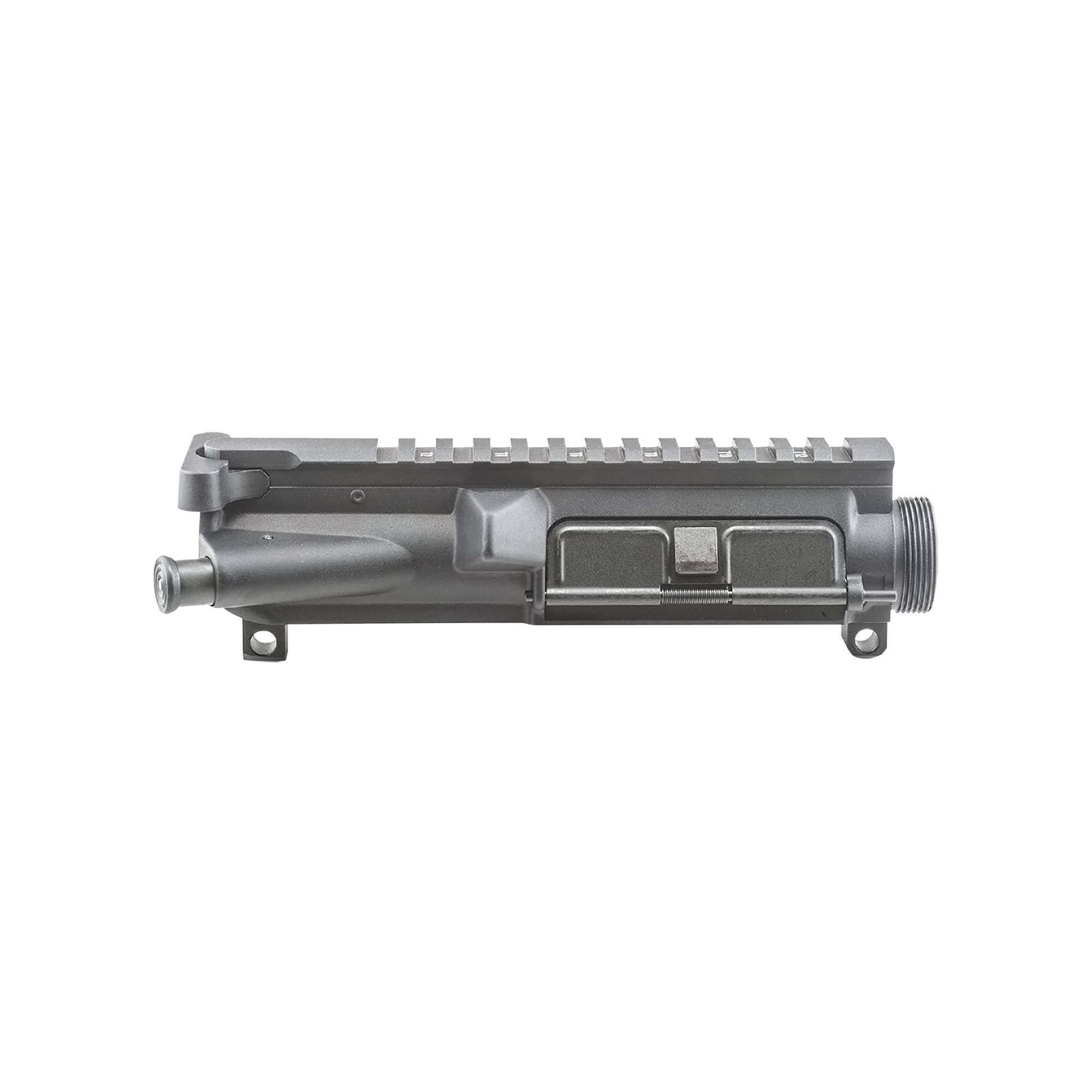 "Start your new build with a Luth-AR .223/5.56 A3 Flattop Upper Receiver comes fully assembled with an M4-type feed ramp"" 12 position Picatinny accessory rail for mounting scopes or flip-up sights. Shell deflector"" forward assist"" and ejection port cover. Precision machined from a 7075-T6 aluminum forging and hardcoat anodized for a tough"" scratch-resistant coating."