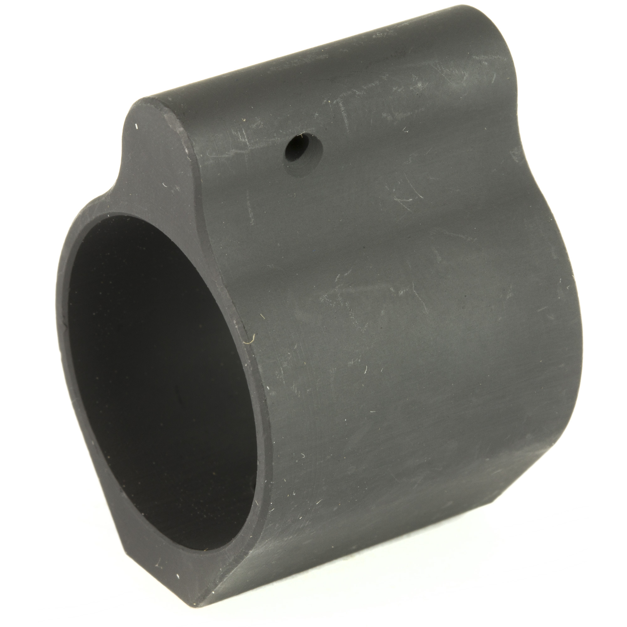 "The LUTH-AR low profile gas block has a black manganese phosphate finish"" 2 set screws and 1 roll pin. Made in the USA."