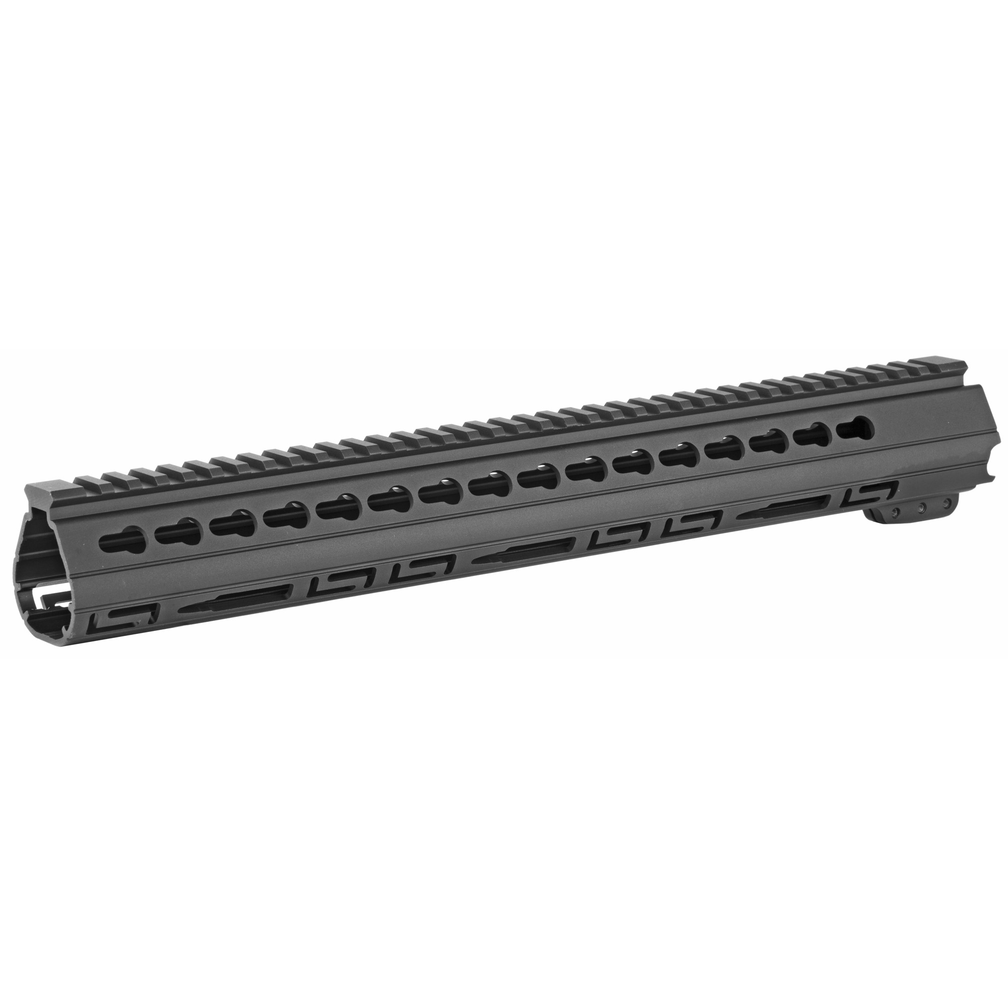 "The Palm Handguard(TM)"" 15"" free float tube features a triangular profile that conforms to the palm of your hand giving you a secure and comfortable grip on your AR. The Slotted versions of the Palm Handguard(TM) provides a Picatinny top rail and KeyMod slots along both upper sides"" as well as a row of KeyMod slots along the bottom to accommodate accessories such as a bipod. The lower sides are adorned with the Luth-AR ""Double L"""" and Cartridge lightning/cooling cuts to further reduce weight and provide heat dissipation with a distinctive good look."