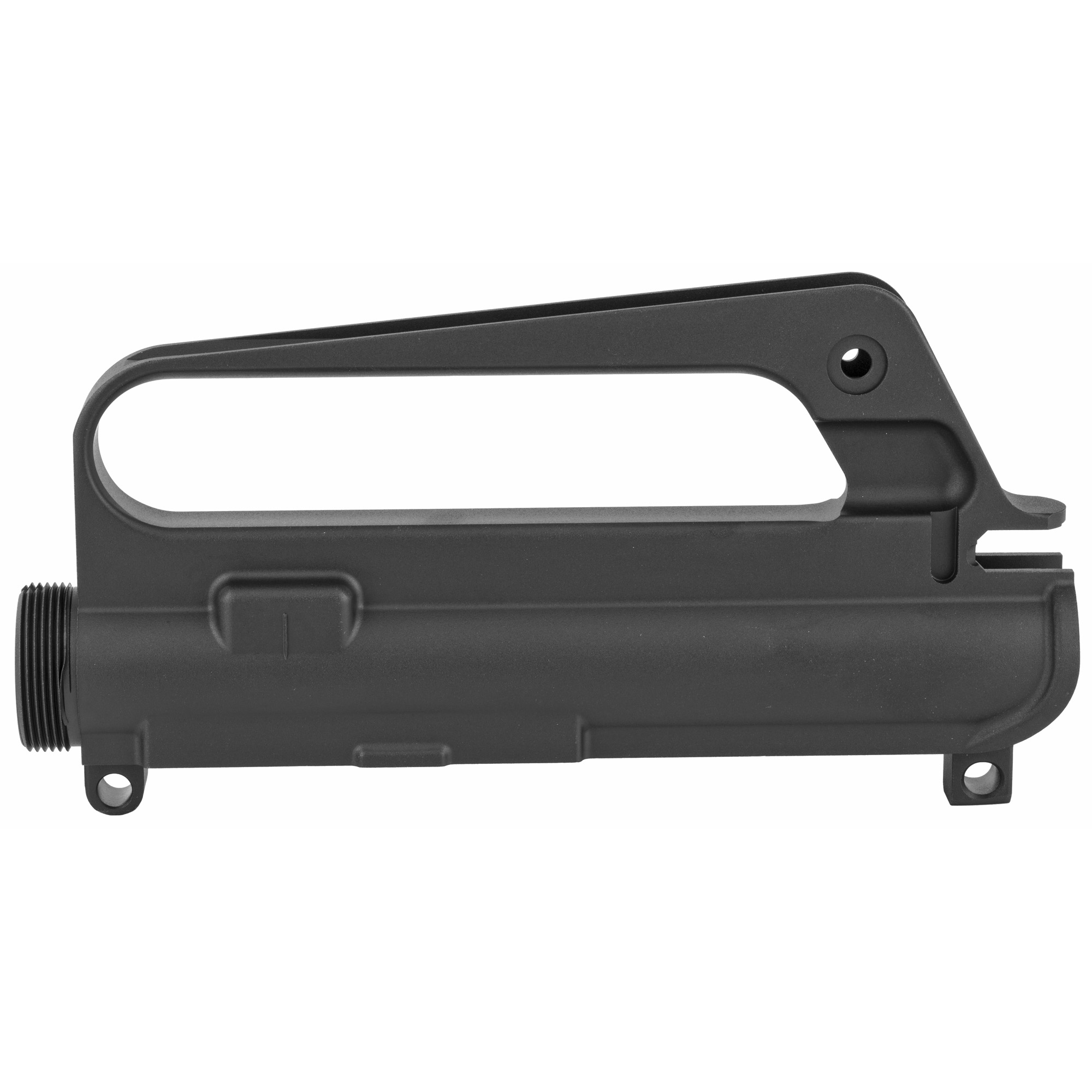 "Looking to build a high-quality retro looking AR? Start your project with a A1 stripped upper receiver with M4 Feed Ramp. Comes with the standard features of a Mil-Spec upper receiver and is forged from 7075-T6 aluminum with a black hard coat anodized"" tough finish. The A1 carry handle is ready for adjustable rear sight. The upper has a shell deflector and forward assist housing and will accept a standard dust cover. The C7 style carry handle allows mounting a scope from the era for a retro look. This upper has an M4 feed ramp. Use with any Mil-Spec lower receiver."
