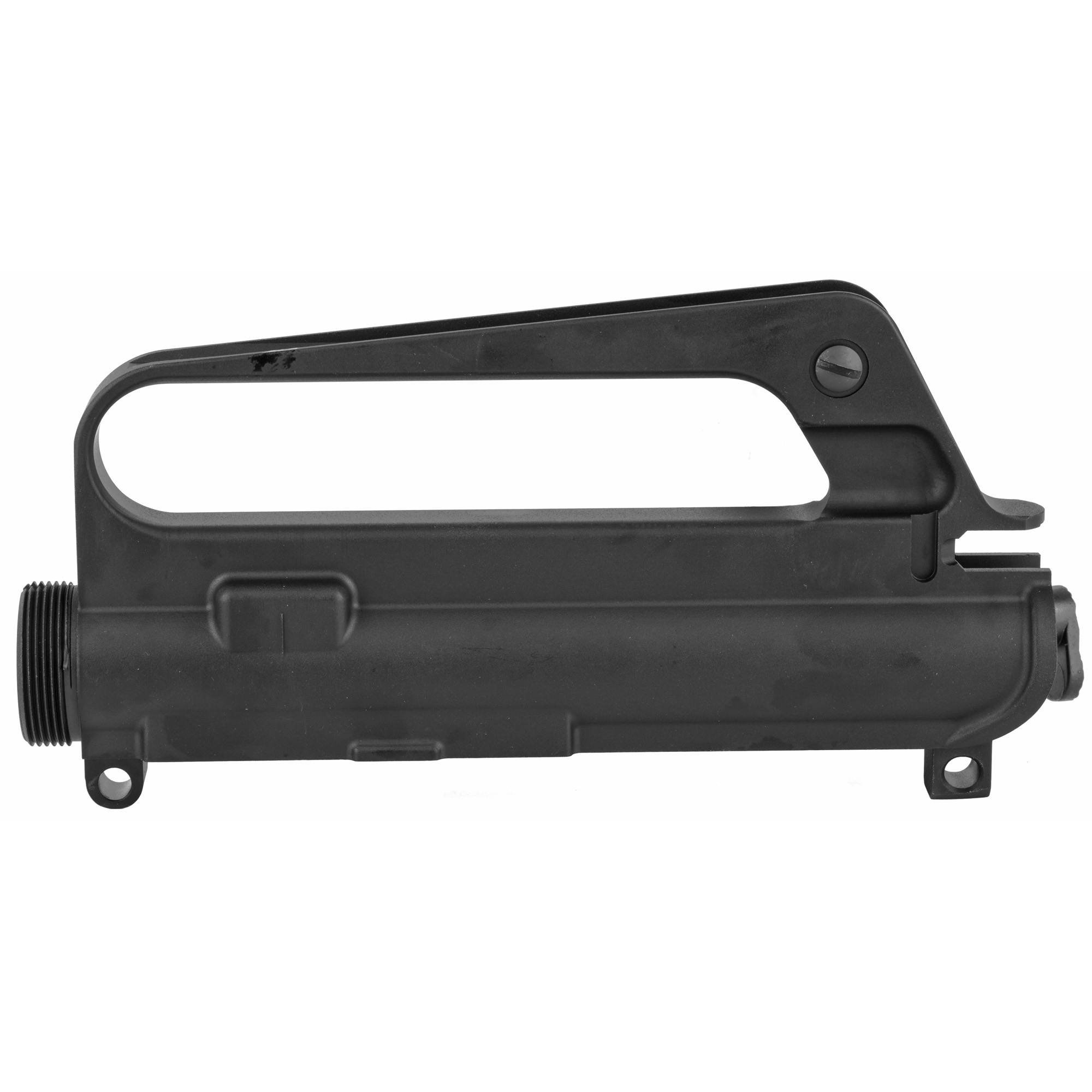 "Looking to build a high-quality retro looking AR? Start your project with a complete A1 upper receiver anodized. Comes with the standard features of a Mil-Spec upper receiver and is forged from 7075-T6 aluminum with a black hard coat anodized"" tough finish. The A1 carry handle includes A1 adjustable rear sight"" and perfect for building a retro M16A1E1"" M16A2 Carbine Model 723"" or a Model 733 Commando. The upper has a shell deflector and tear drop forward assist and dust cover. The C7 style carry handle allows mounting a scope from the era for a retro look. This upper does not have M4 feed ramps in keeping with the military A1 uppers. Use with any Mil-Spec lower receiver."