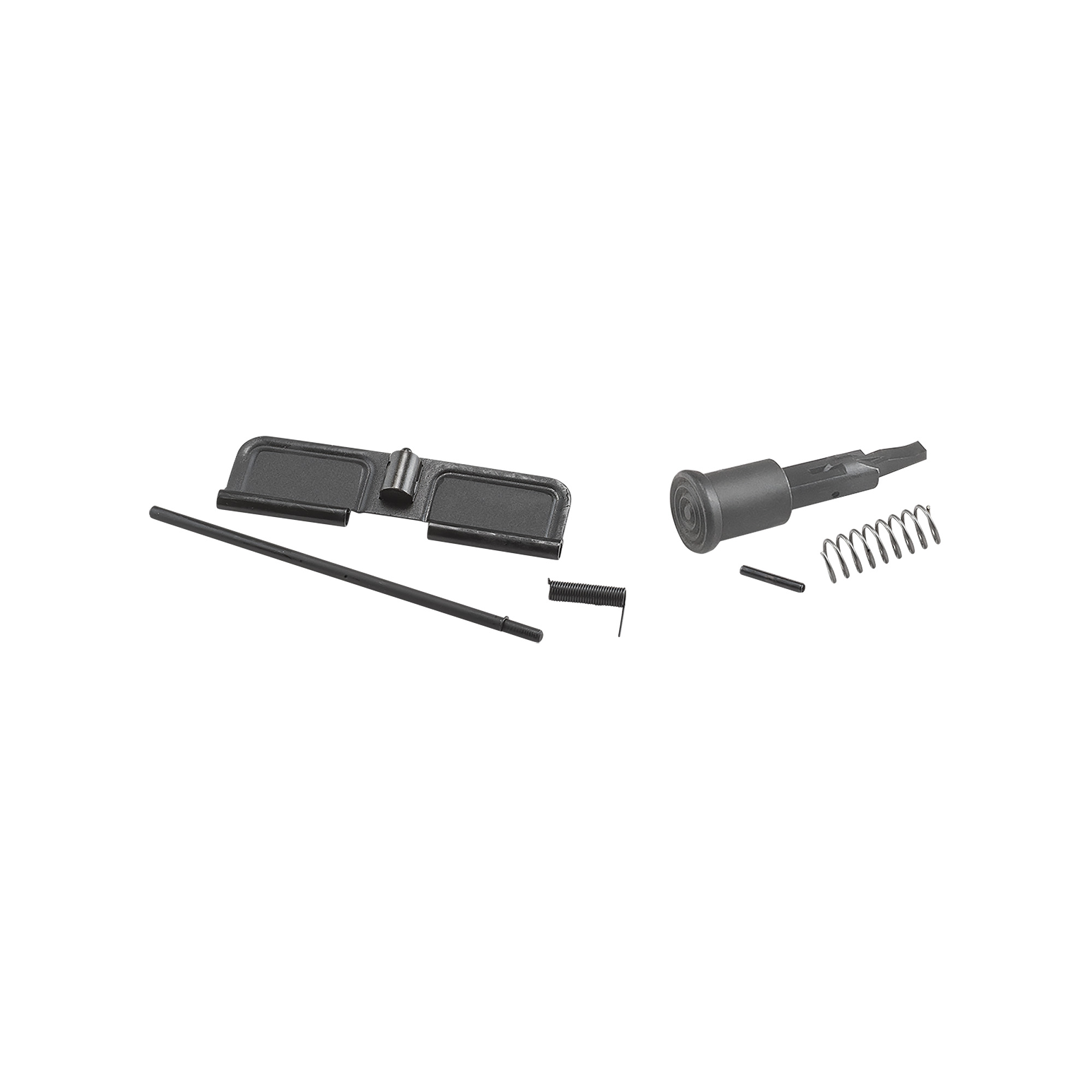 "The A3 Upper Receiver Parts Kit for AR-15 includes the ejection port cover"" ejection port rod"" ejection port C-clip"" ejection port spring"" forward assist button"" forward assist spring and forward assist pin."