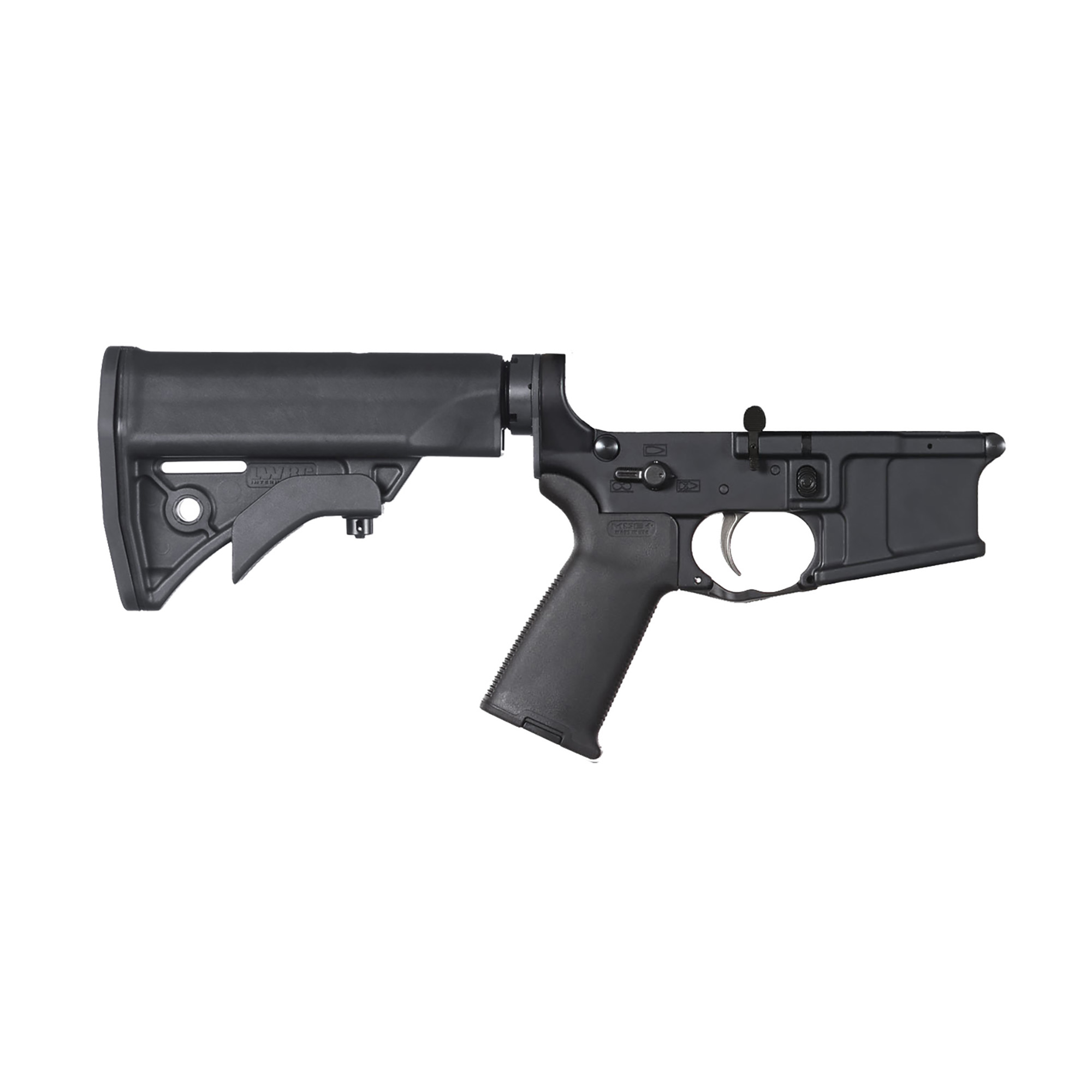 "The LWRC- IC Fully Ambidextrous Complete Lower Receiver features an ambi magazine catch"" safety selector and bolt catch."