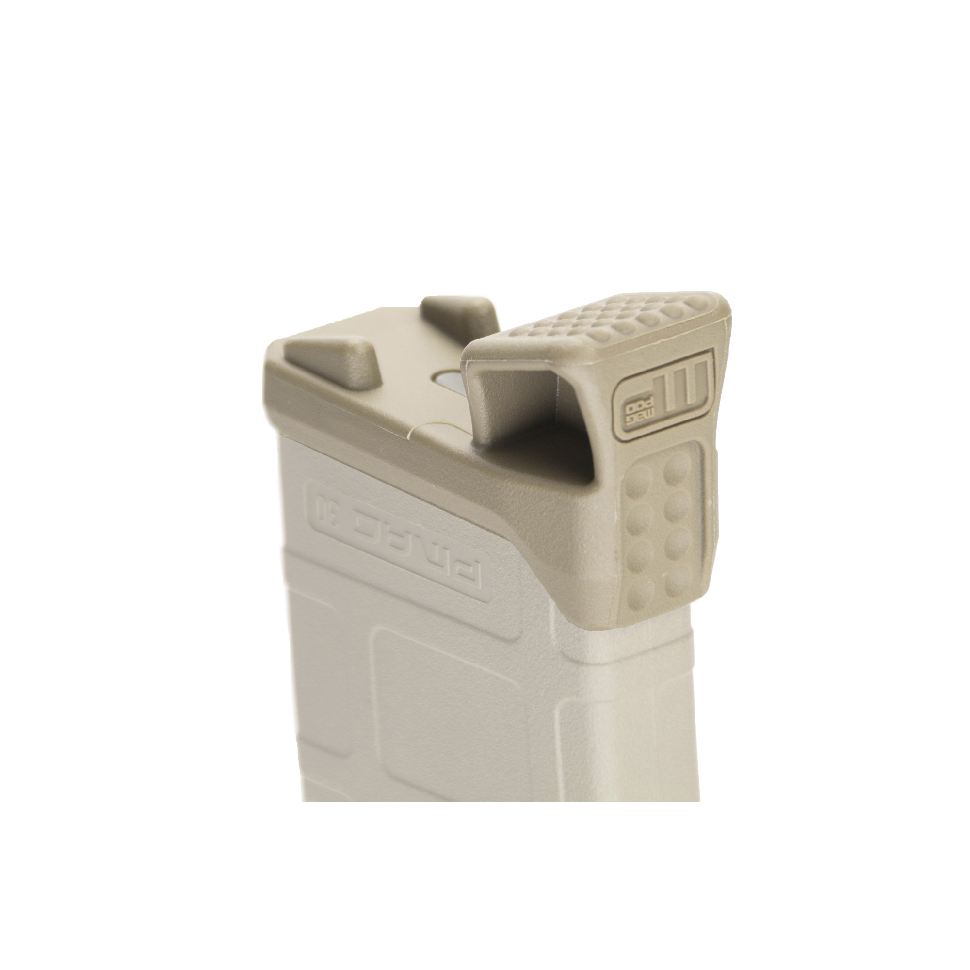 The MagPod fits Gen2 Pmag's (or older) and has an injection molded TPU base pad for enhanced traction on hard surfaces.