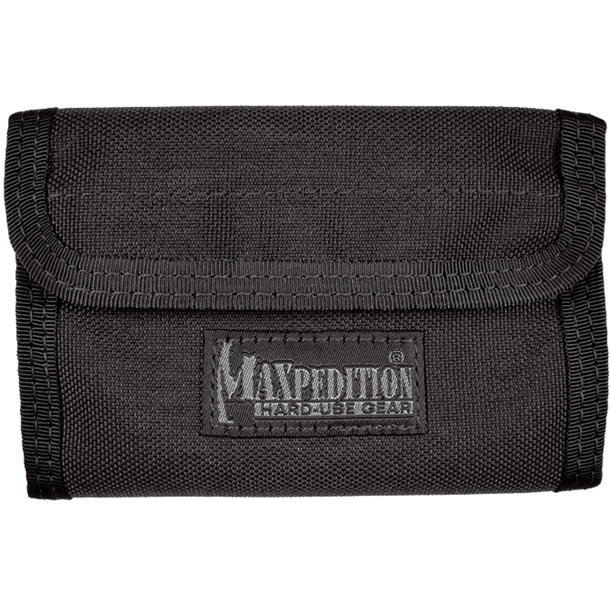 The Spartan Wallet is a general purpose folding wallet that protects items from slipping. The wallet contains a plethora of small compartments secured with Hook & Loop tabs to prevent slippage. Two longer slots for paper bills make carrying multiple currency types easy. An external mesh pocket is great for quick access to ticket stubs or to separate receipts.