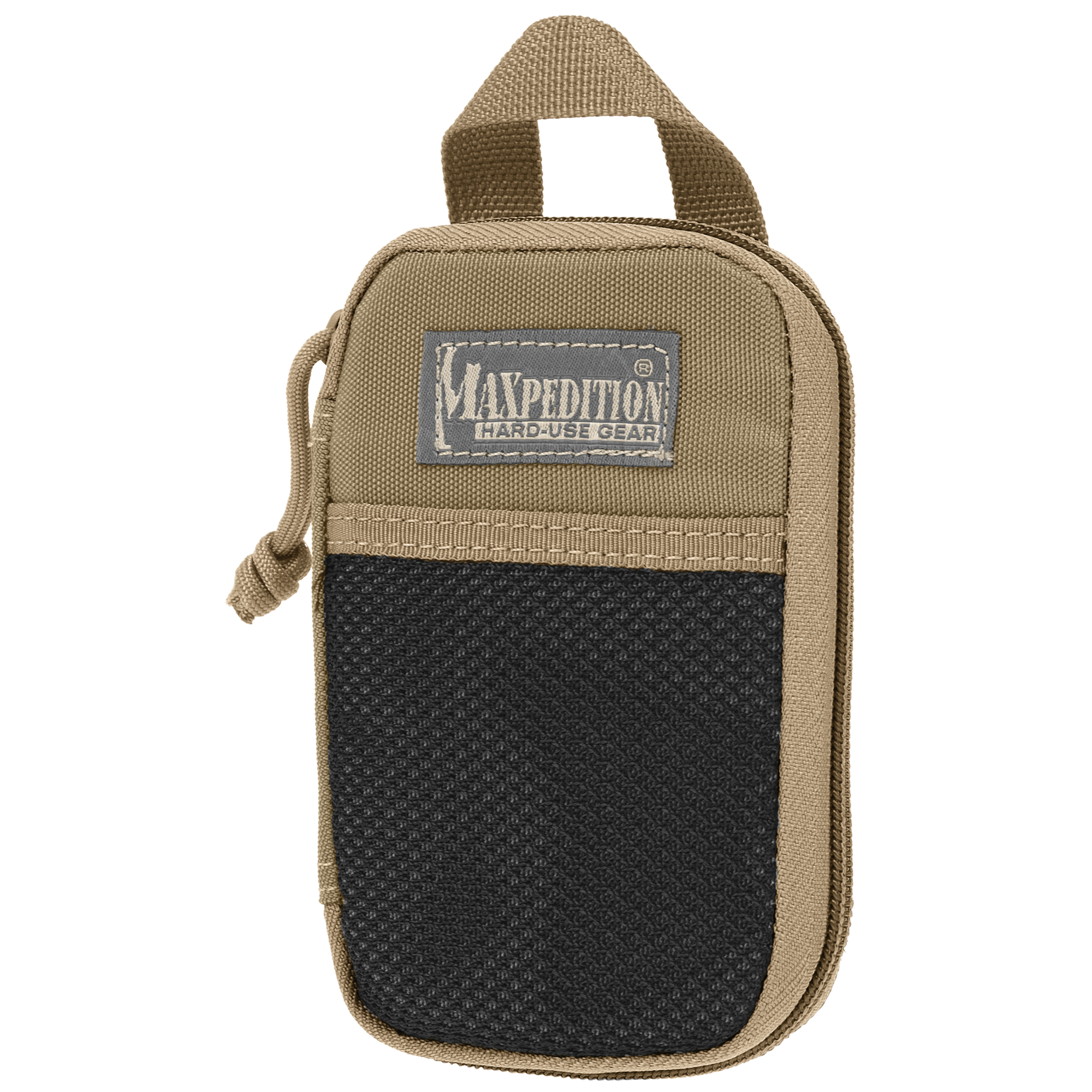 """If it's hard to find"""" it's hard to use. Kill the clutter and keep it together with Maxpedition Pocket Organizers: portable multi-tool managers that can be packed"""" carried or easily secured to the PALS webbing exterior of your Maxpedition bag. Instantly recognizable by their large front mesh pockets and oversized carry handles"""" these practical utility packs come in 5 different sizes with multiple solutions to help keep you organized. Designed for smaller essentials."""