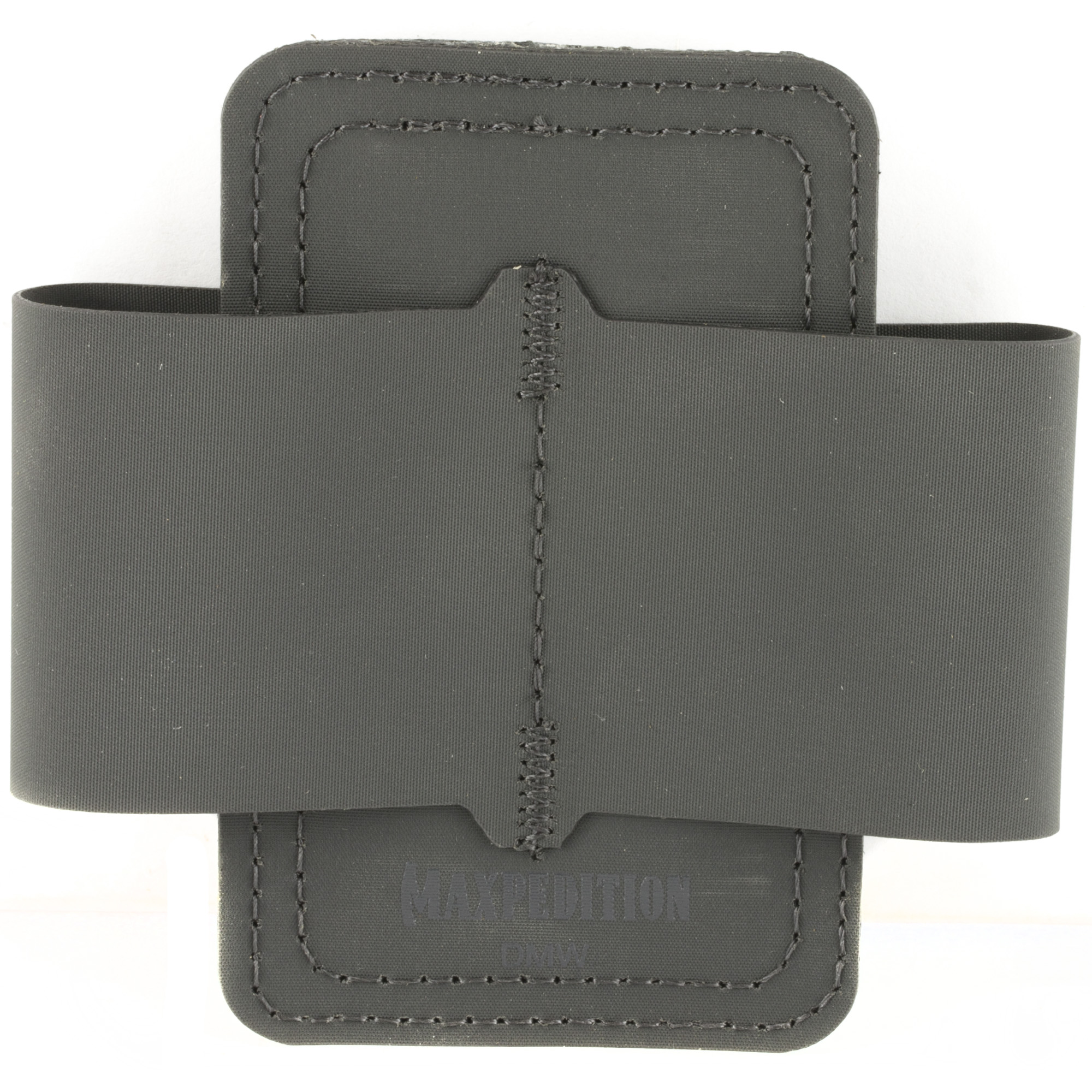 """The DMW Dual Mag Wrap has a hook & loop back and can attach to any loop field on Maxpedition bags. It will fit two (2) magazines from a wide range of handgun sizes. It can also be used to hold flashlights"""" tools"""" etc. To use the Dual Mag Wrap"""" open the flaps and lay flat. The Maxpedition logo should be facing up in the correct reading position. Place the magazine under the flap as close to the middle seam as possible. Wrap the flap around the magazine"""" and secure using the hook & loop on the back. Place the magazine wrap into a CCW compartment"""" or any other compartment with hook & loop"""" and press firmly to secure."""