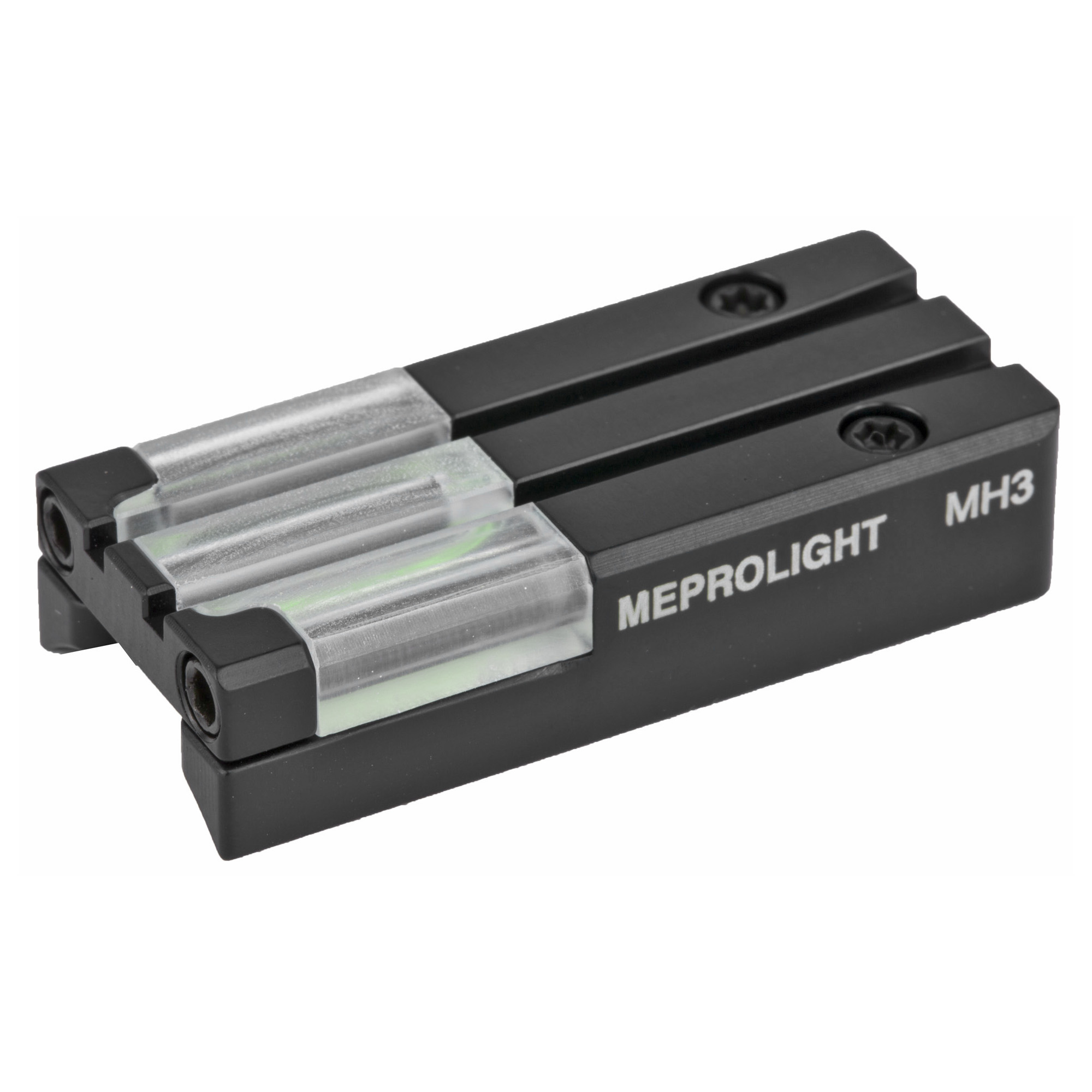 """MEPROLIGHT combat proven self-illuminated night sights enable you to hit stationary or moving targets under low-light conditions with dramatically increased hit probability. Designed as replacement parts for the standard weapon sights"""" MEPROLIGHT'S Self-Illuminated night sights can be mounted directly with minor modifications. Superior production methods and rigid quality control have made MEPROLIGHT the first choice among law enforcement agencies"""" defense decision makers and major weapon manufacturers."""
