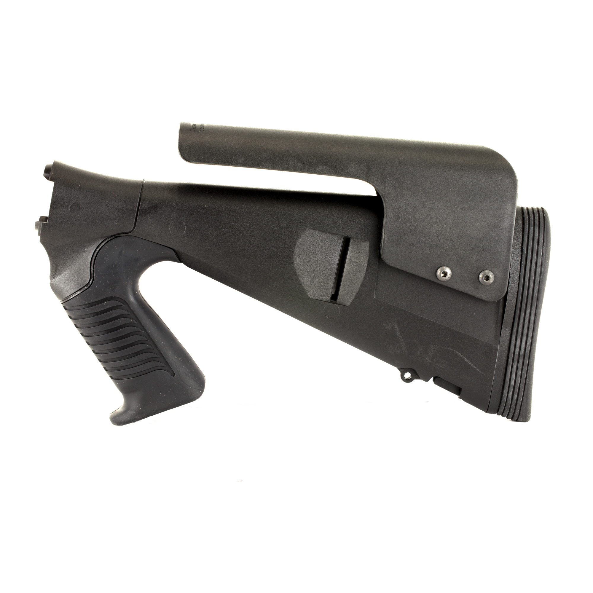 """Mesa Tactical's Urbino Pistol Grip Stock for the Remington 870 is very popular in the law enforcement market due to the shorter length of pull"""" allowing the user to wear body armor or bulky clothing without extending their reach. The reduced length-of-pull (LoP) makes the Urbino the first truly tactical stock for Remington shotguns. The Urbino Tactical stock is durable"""" easy to shoulder and will not slip. It is a fixed-length pistol grip shotgun stock made from injection-molded glass-filled nylon. Developed to meet the needs of law enforcement and military operators"""" the rugged Urbino Tactical stock features a 12 1/2"""" inch LoP"""" soft urethane rubber grip"""" adjustable cheek riser and Limbsaver Butt pad."""