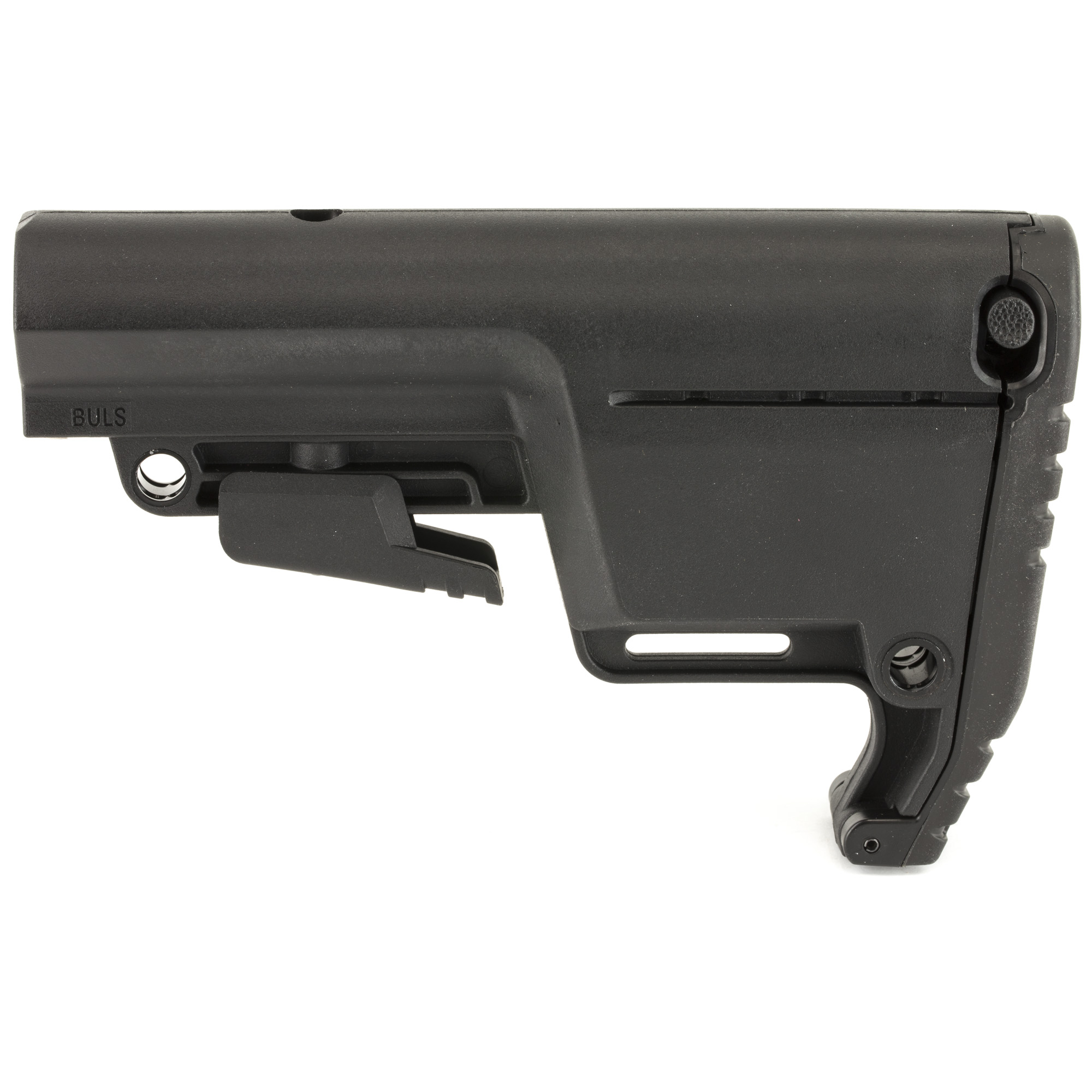 """Low profile Mil Spec version of the Utility Stock; adapts and changes based on your environment or operational needs"""" from storing additional items in the rear compartment to utilizing custom accessory mounts."""