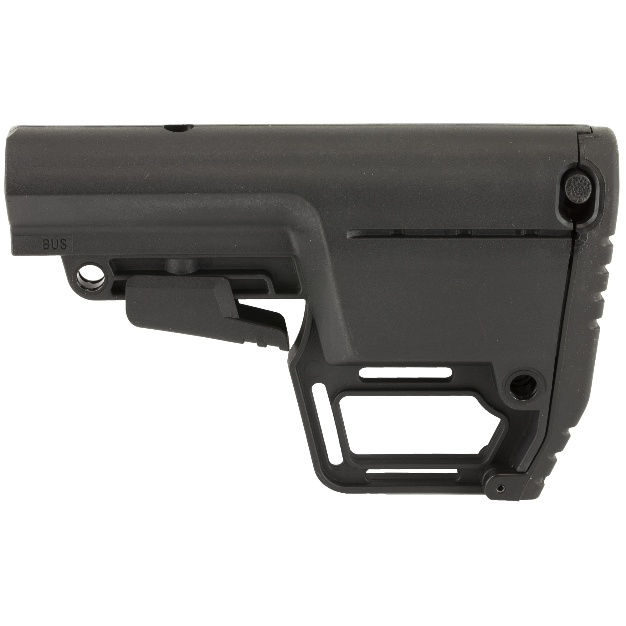 """Mil Spec stock that adapts and changes based on your environment or operational needs"""" from storing additional items in the rear compartment to utilizing custom accessory mounts."""