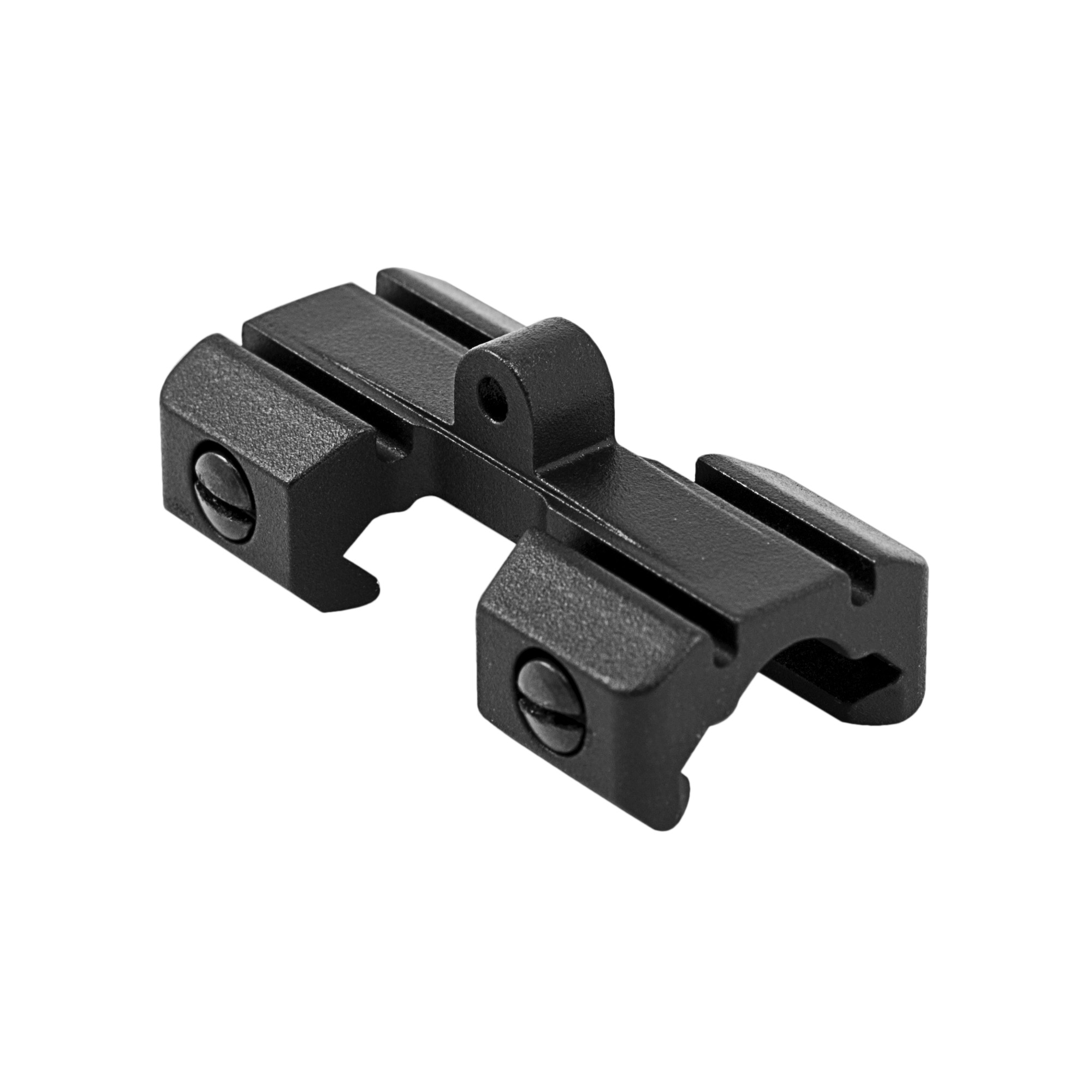 The E-VolV Bipod Mount is designed for use with MIL-STD 1913 Picatinny Rails. The E2BPM mounts a sling swivel stud onto your rail for use with bipods and sling swivels. Constructed out of lightweight 6061 aluminum that is Type 3 hard coat anodize