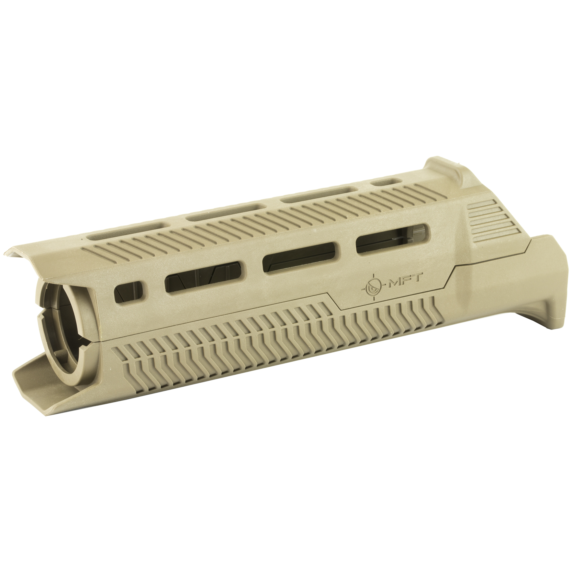 """The Tekko polymer 7"""" AR-15 carbine M-LOK rail system replaces the plastic factory handguard in minutes and requires no gunsmithing. No permanent alterations need to be made to the rifle its drop in screw less installation"""" the unit is held in place by the Delta ring and handguard cap. M-Lock(TM) provides a secure platform for mounting Picatinny rails and accessories such as vertical grips"""" lights"""" lasers"""" bipods and other rail mounted kit. One QD mount built in for right handed shooters"""" sorry lefties you'll have to buy the M-Lock(TM) QD accessory. A monolithic style continuous top rail eliminates the gap between the receiver and rail. MFT's proprietary polymer ensures heat and impact resistance"""" made in the USA"""" with a Lifetime Warranty."""