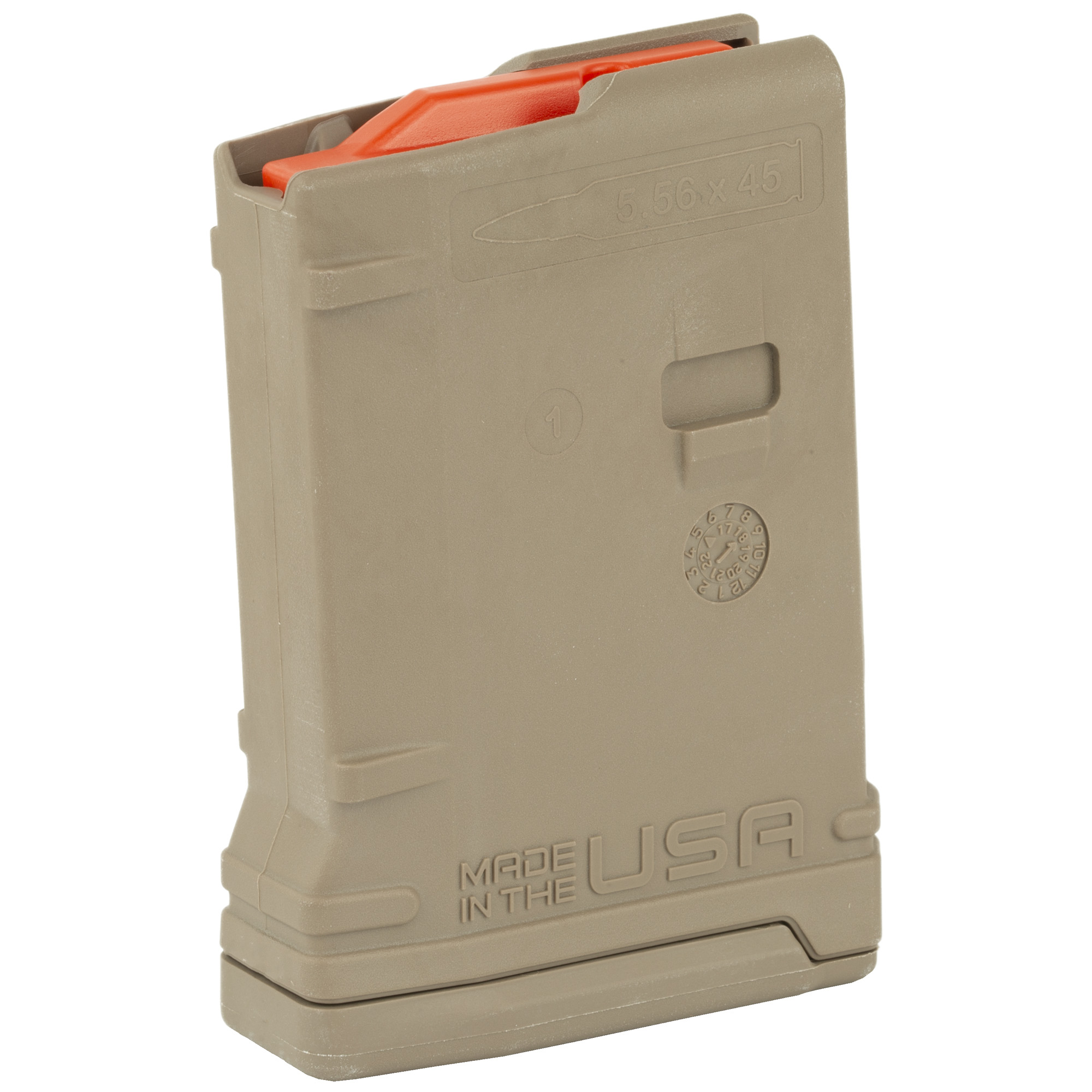 """The Amend2 10-round magazine is a sturdy"""" reliable AR15/M4/M16 magazine made of advanced polymer material. It is light"""" durable and an excellent alternative to the standard M4/M16 USGI aluminum magazines. The 10 round body profile is ideal for hunting"""" bench shooting or the various states where capacities are limited by law."""