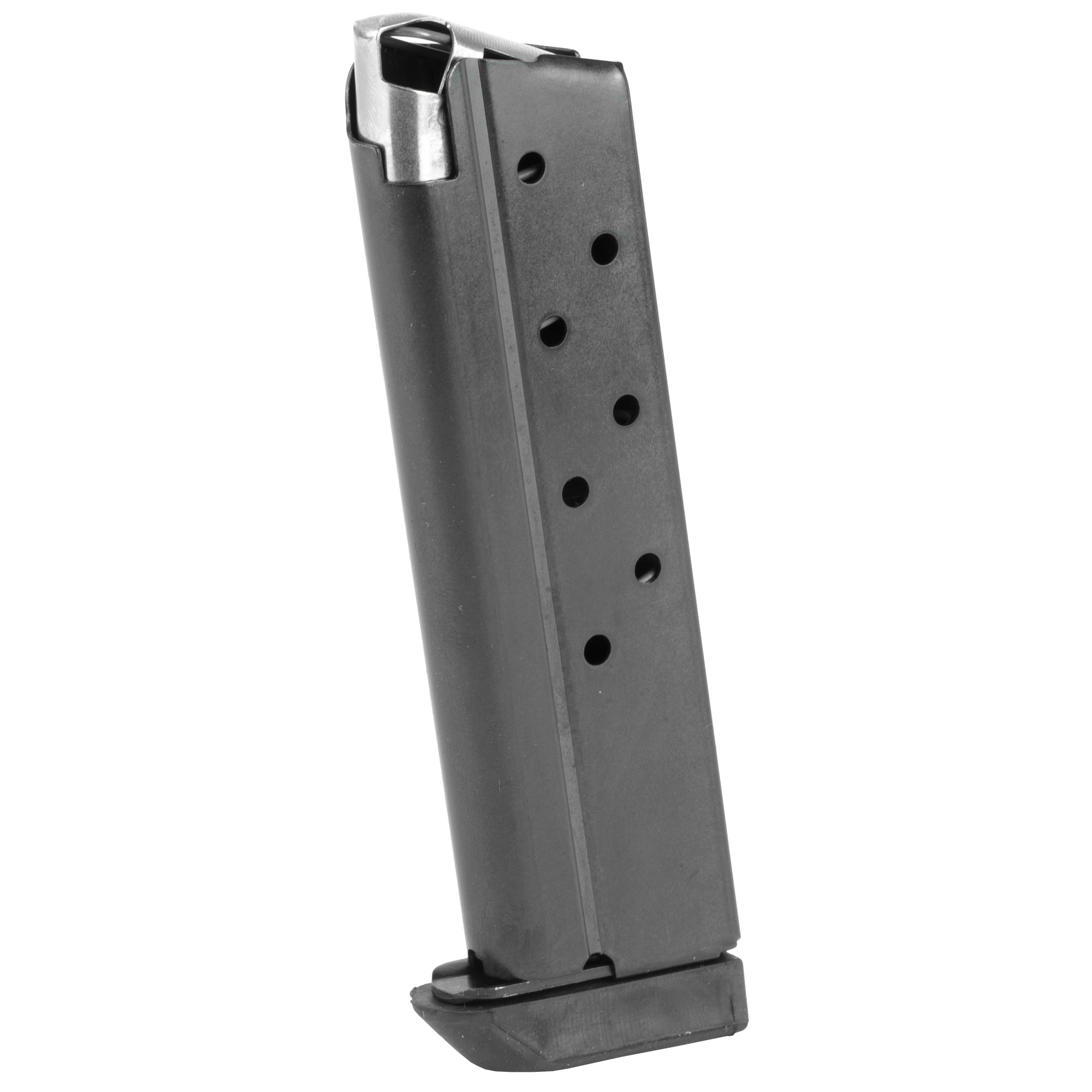"""The Rock Island Armory Full Sized Magazine is a standard factory replacement magazine. This magazine is for Full and Mid sized 1911 models chambered in 10mm and holds 8 rounds of ammunition. It is made of steel and is made to Armscor/Rock Island Armory specifications and tolerances"""" using the same manufacturing and materials as the original equipment magazines"""" ensuring perfect fit and operation."""