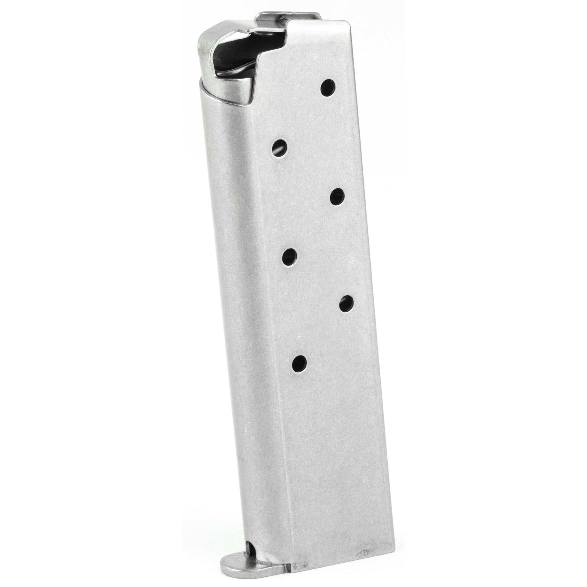 """The Rock Island Armory Baby Rock Magazine is a standard factory replacement magazine. This magazine is for the Baby Rock model chambered in 380ACP and holds 7 rounds of ammunition. It is made of steel and is made to Armscor/Rock Island Armory specifications and tolerances"""" using the same manufacturing and materials as the original equipment magazines"""" ensuring perfect fit and operation."""