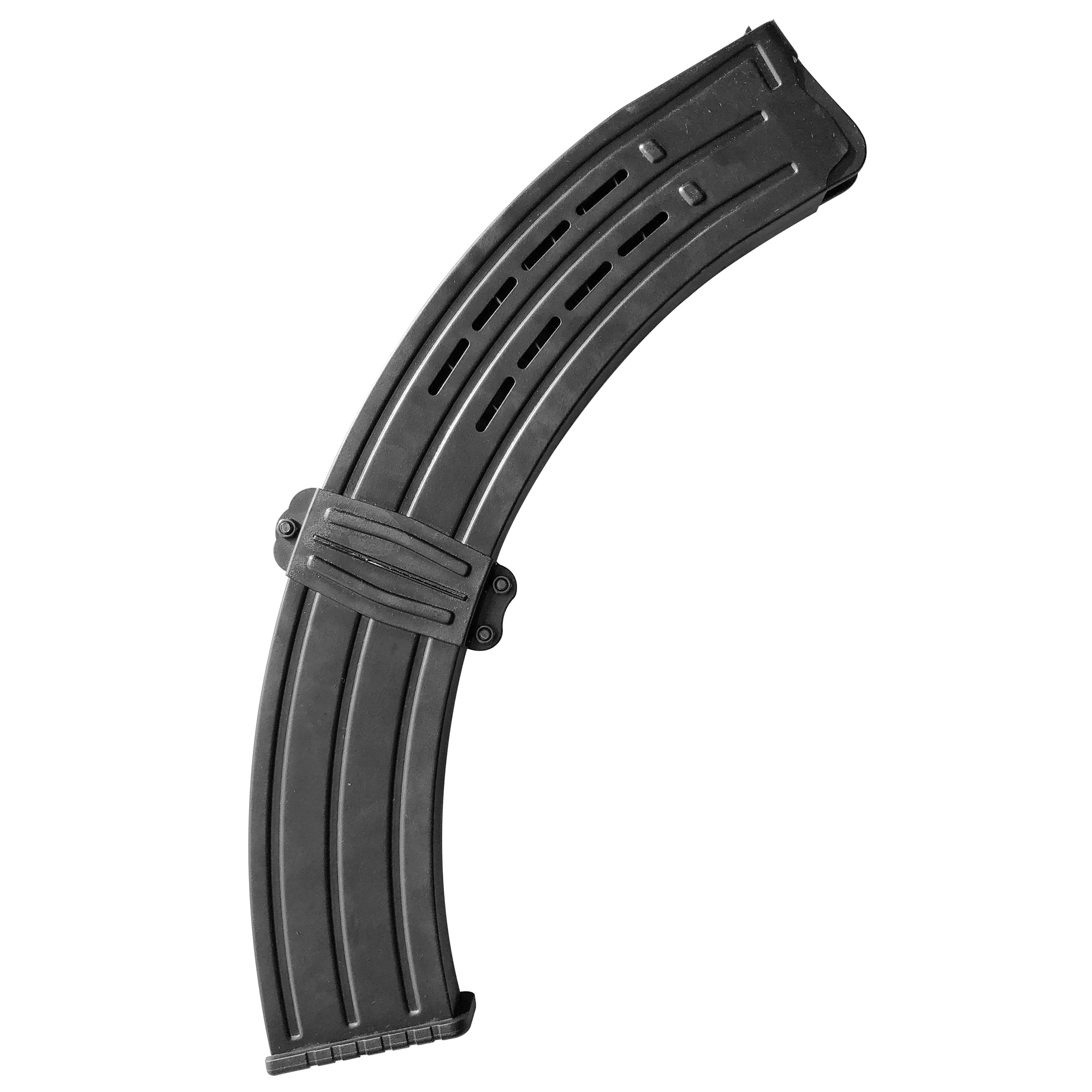 This RIA Imports magazine for VR60/80 and Bull rocket shotguns is a standard factory replacement magazine. This magazine has a 19 round capacity and is chambered in 12GA.