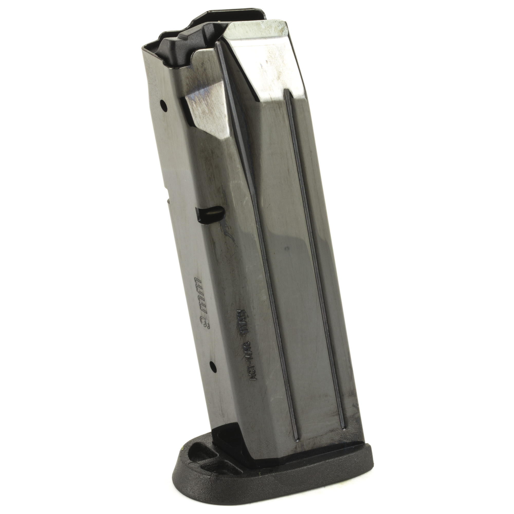 This M&P ACT-MAG magazine is manufactured to the exact same specifications and tolerances used by Smith & Wesson and uses high quality manufacturing materials which guarantees excellent fit and reliable operation. This magazine is designed for a flush fit on a full-size M&P handgun.