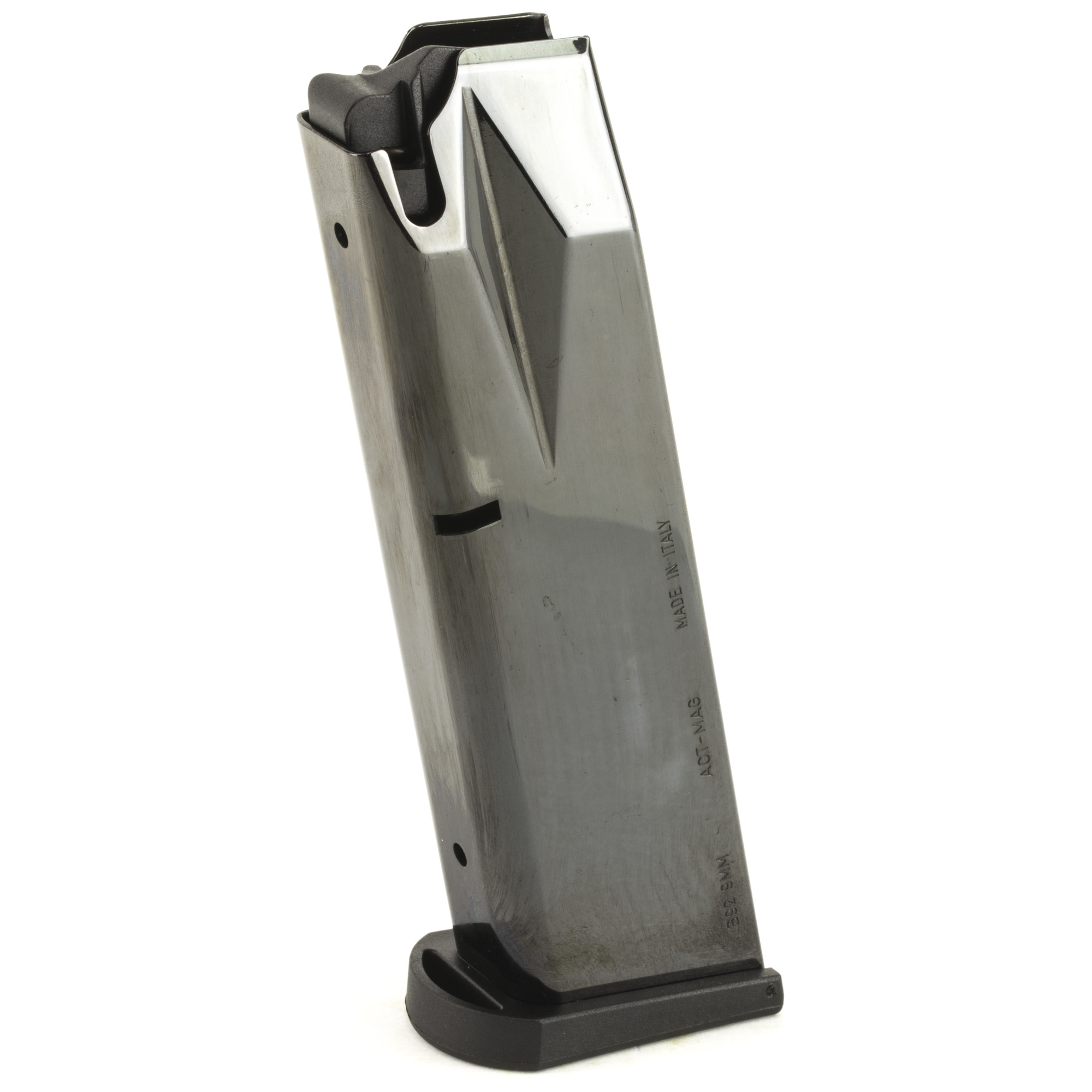 These Flush Fit 17RD Beretta magazines are of the same high quality you have come to expect from ACT-MAG. Guaranteed to function reliably! They fit the Beretta Model 92/M9 and are Made in Italy.