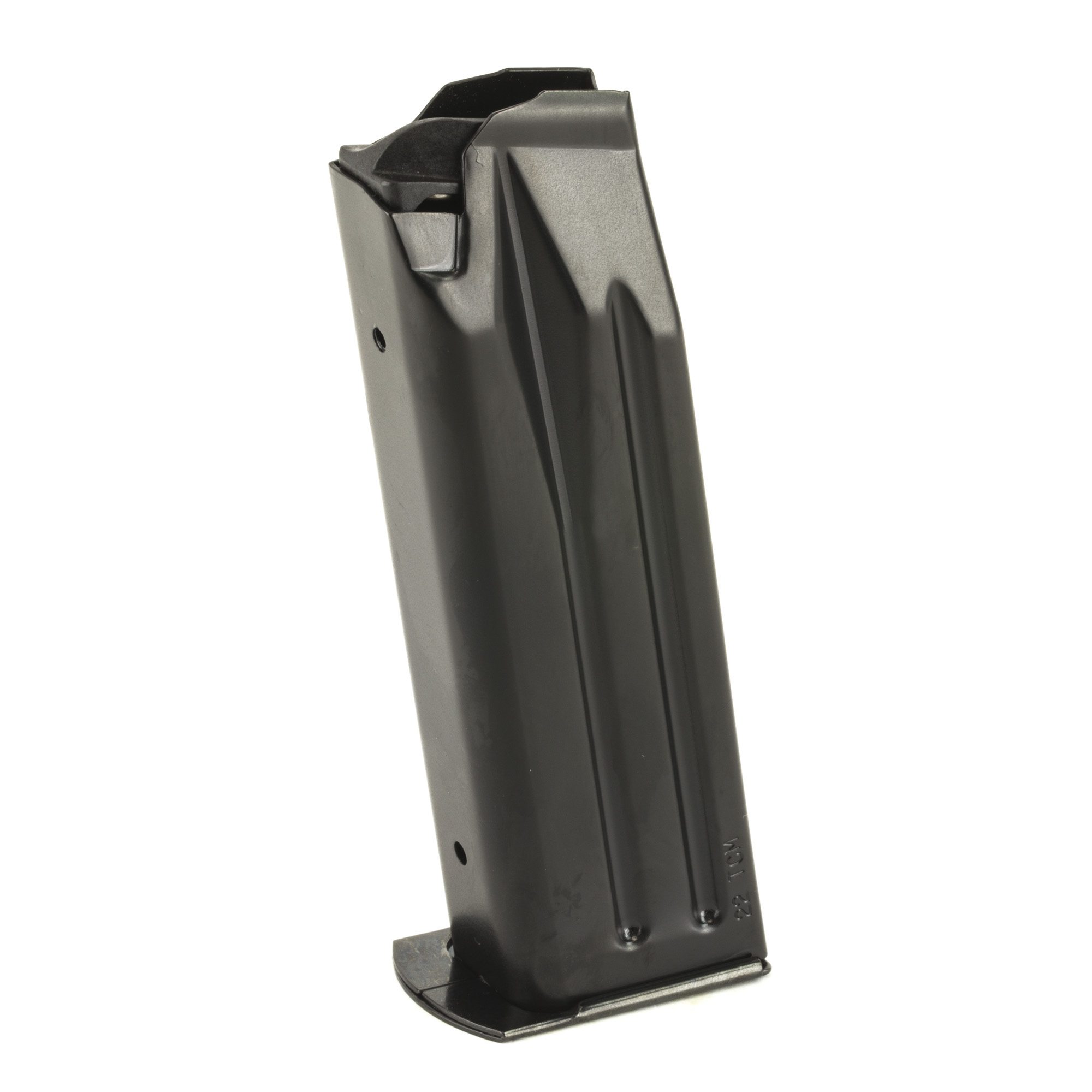 "The Rock Island Armory A-2 High Cap Magazine is a standard factory replacement magazine. This magazine is for either Full Size or Mid Size A-2 models chambered in 22TCM and holds 17 rounds of ammunition. It is made of steel and is made to Armscor/Rock Island Armory specifications and tolerances"" using the same manufacturing and materials as the original equipment magazines"" ensuring perfect fit and operation."