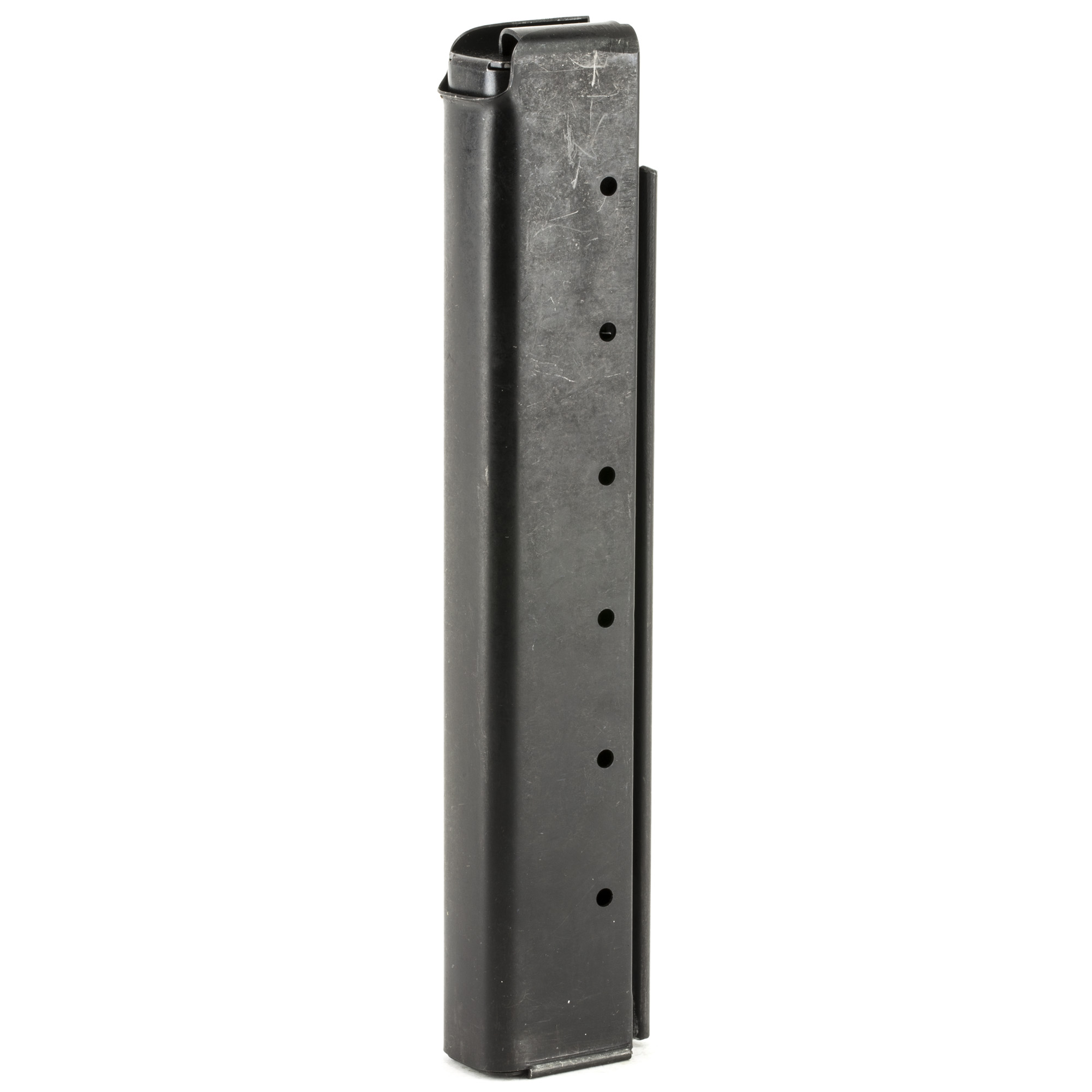This Auto Ordnance Thompson Stick magazine is designed to hold 30 rounds of .45ACP ammunition and is made of steel.