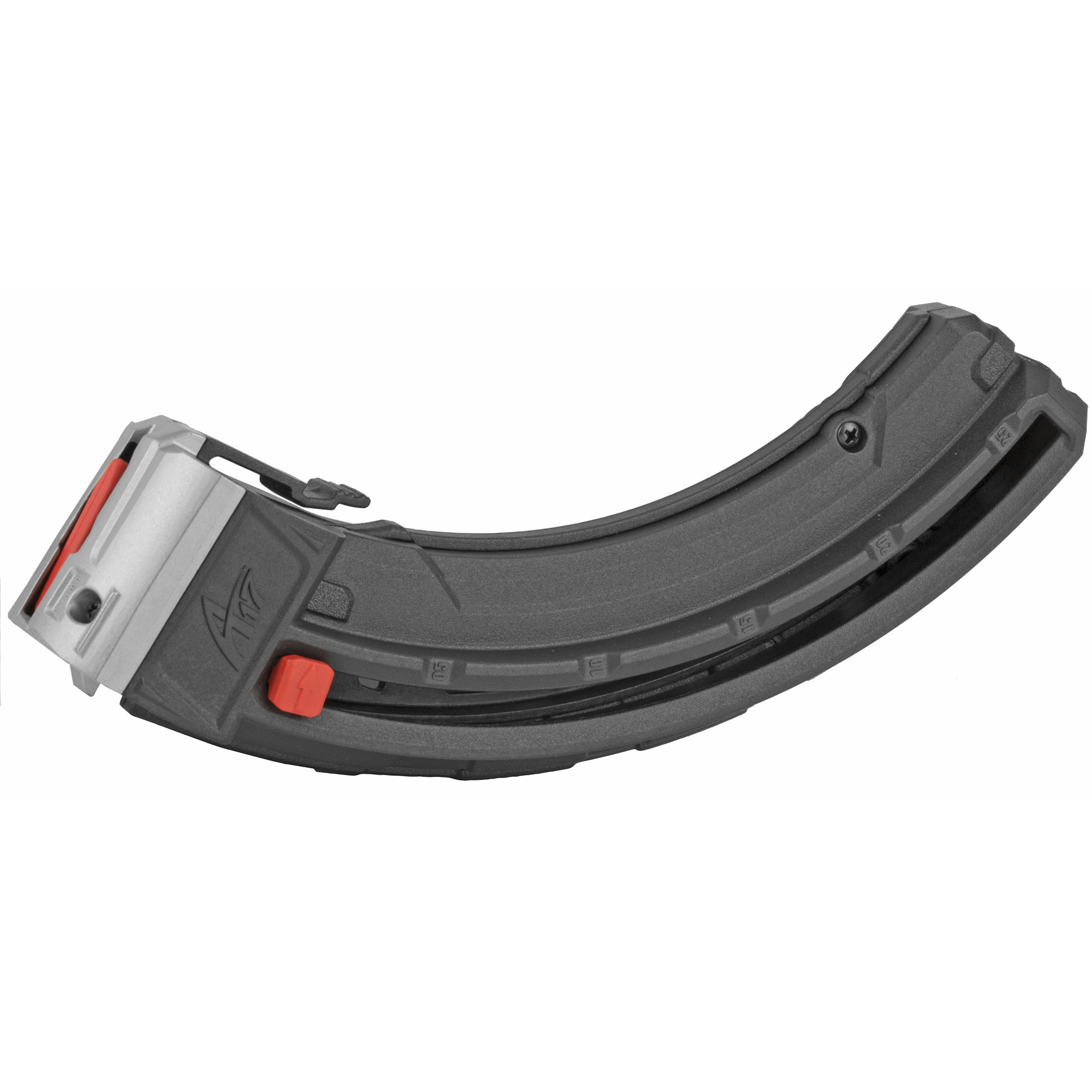 "Get the most out of your Savage A-Series rifle with one of Butler Creek's 25-round magazines. It features a stainless steel spring and all metal header and feed lips for reliable feeding. A remaining round indicator on the side lets you know when the magazine is running short of rounds. These A-Series 25-round magazines gives you more time behind the rifle"" and less time reloading."