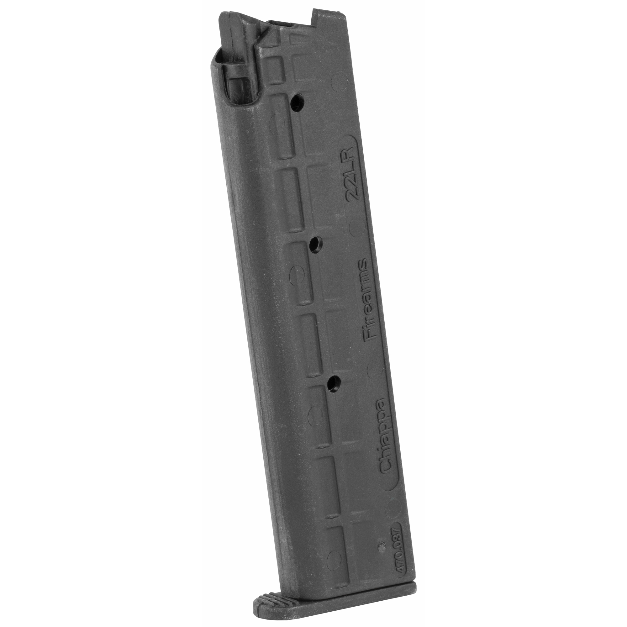 The Chiappa M1911-22 Magazine is a standard factory replacement magazine. This magazine is for M1911 models chambered in .22 Long Rifle and holds 10 rounds of ammunition.