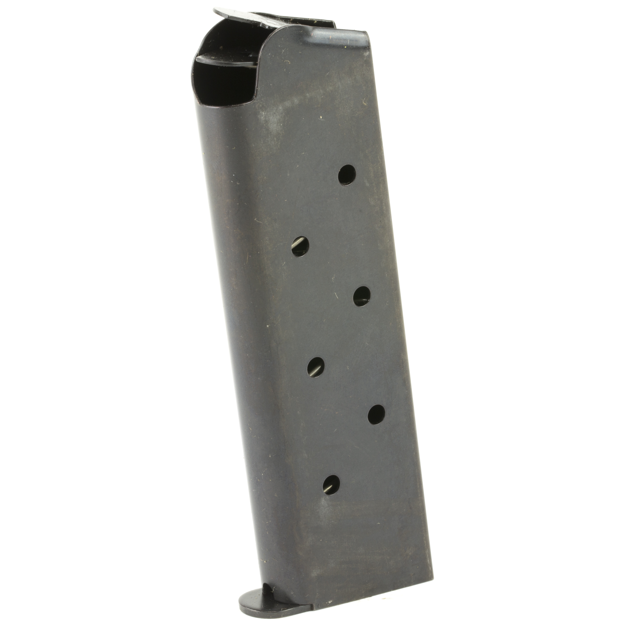This is a Full-Size 1911 magazine in the traditional flush fit GI-style with all new materials and a follower designed for enhanced capacity (8 Rounds). It features a laser welded stainless steel magazine tube with welded base plate and is drilled for an optional polymer base pad (Sold Separately).