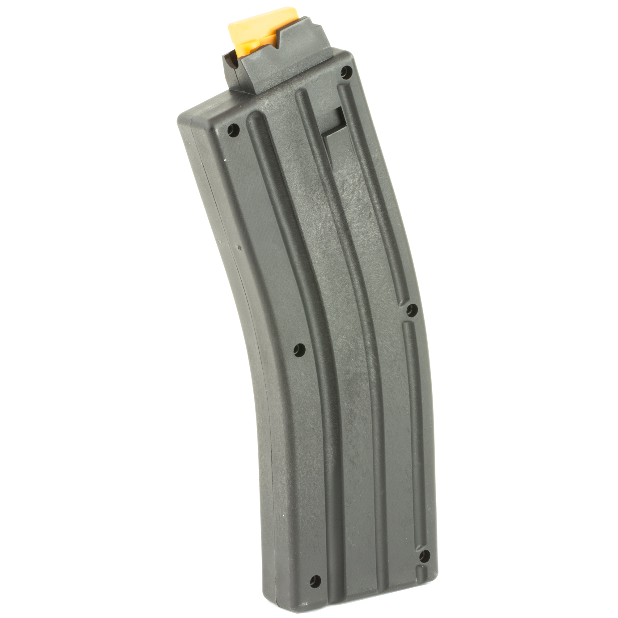 This CMMG Magazine is a standard factory replacement magazine that is designed for use with the CMMG 22LR AR conversions. This magazine holds 10 rounds of .22 Long Rifle and is made of polymer.
