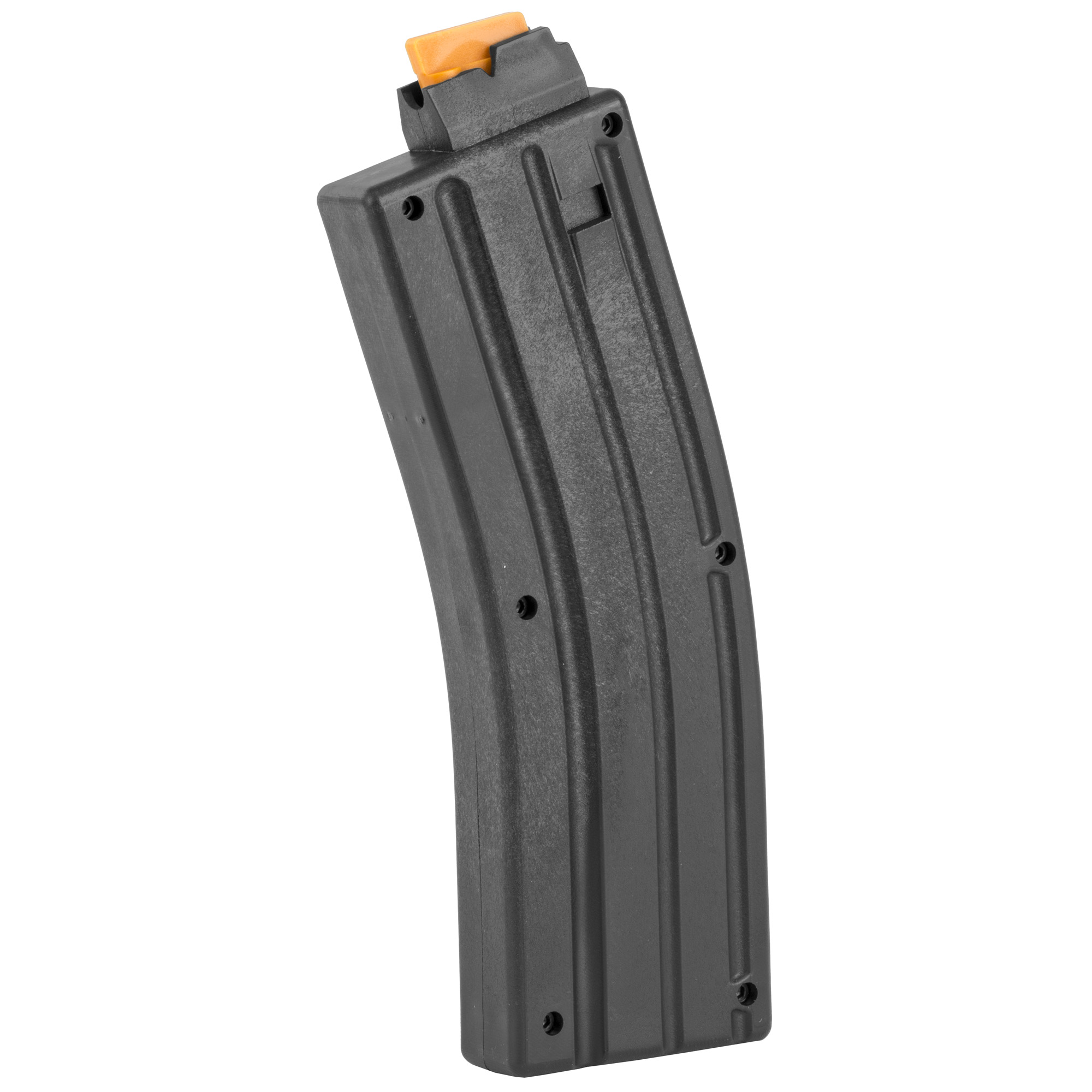 This CMMG Magazine is a standard factory replacement magazine that is designed for use with the CMMG 22LR AR conversions. This magazine holds 25 rounds of .22 Long Rifle and is made of polymer.