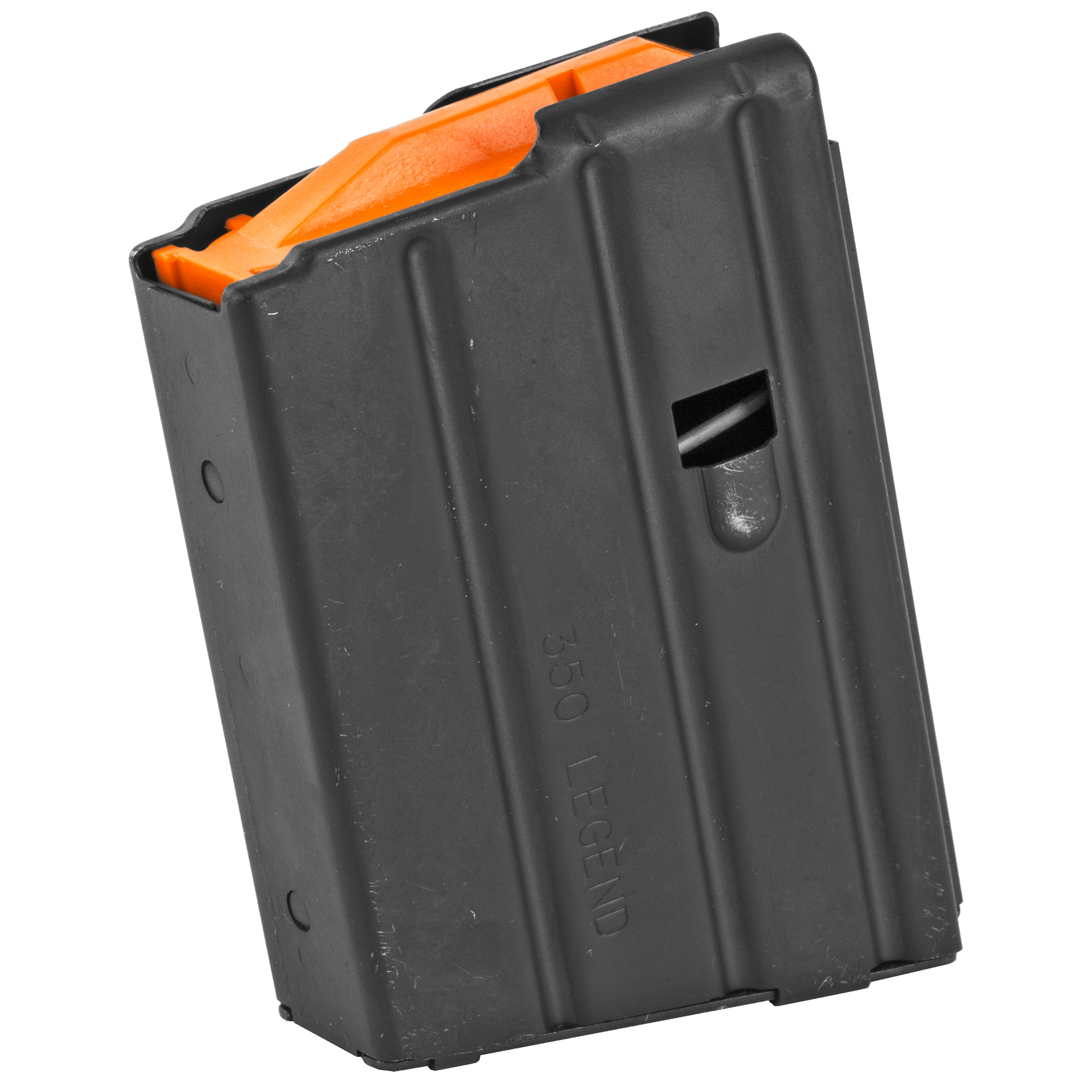 This CMMG Magazine is a standard factory replacement magazine that is designed for use with AR15's chambered in .350 Legend. It features a stainless steel body and holds 5 rounds of .350 Legend ammunition.