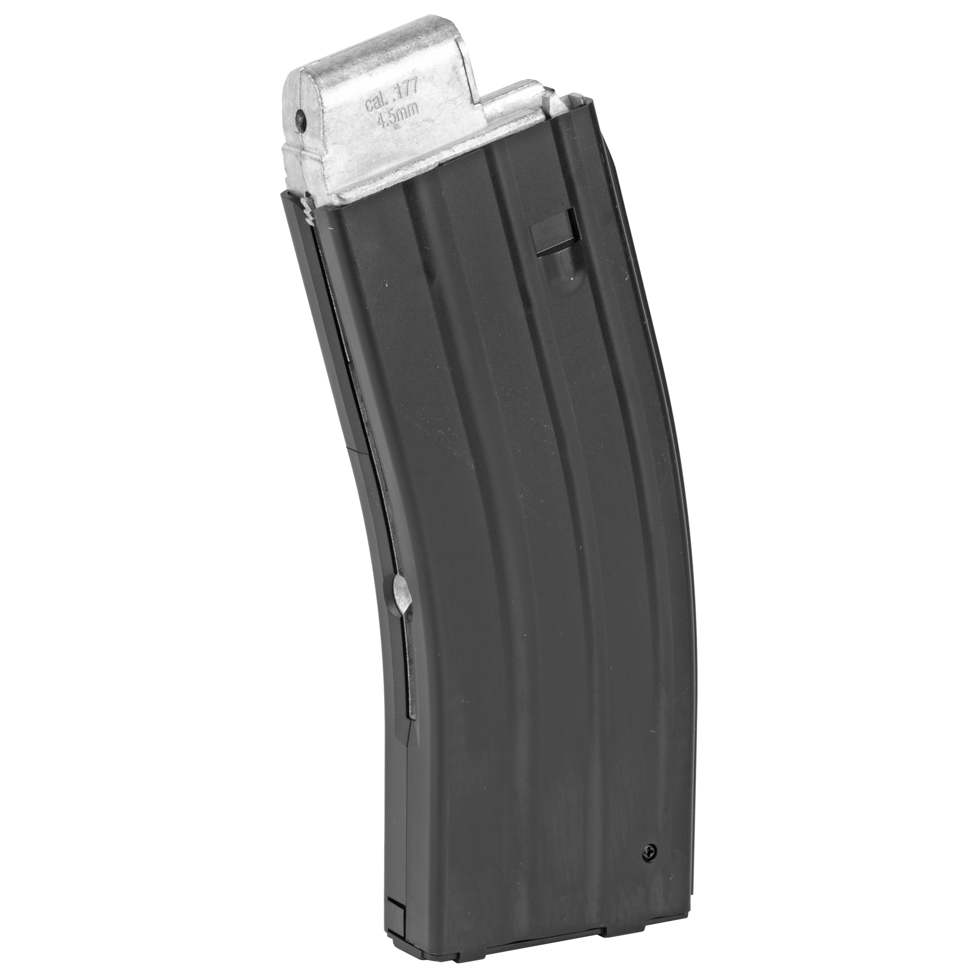 The Crosman DPMS SBR air rifle magazine is designed to work with .177 caliber BB's and has two CO2 cartridge refill ports. Note: CO2 Tanks are not included.