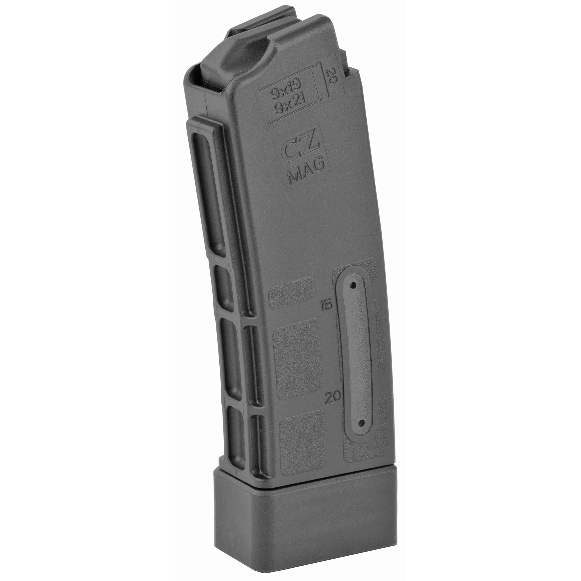 This CZ factory OEM magazine features polymer construction and is designed for reliable operation in the CZ Scorpion.