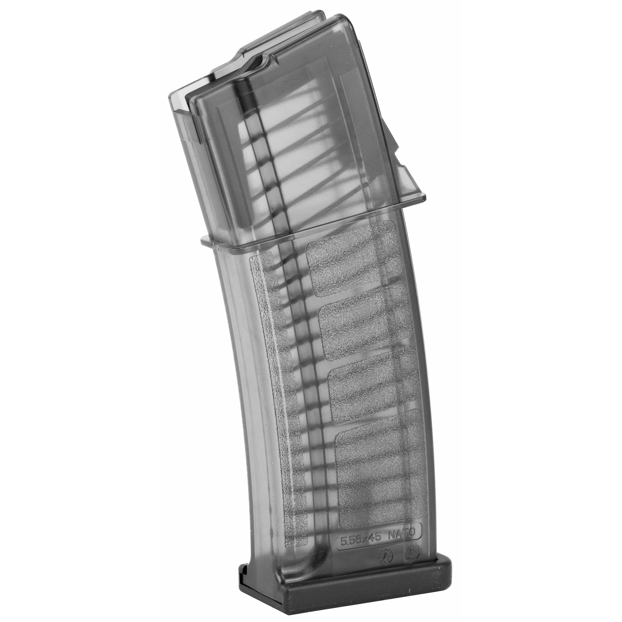 This CZ factory OEM magazine features translucent polymer construction and is designed for reliable operation in the CZ 805 BREN Retro.