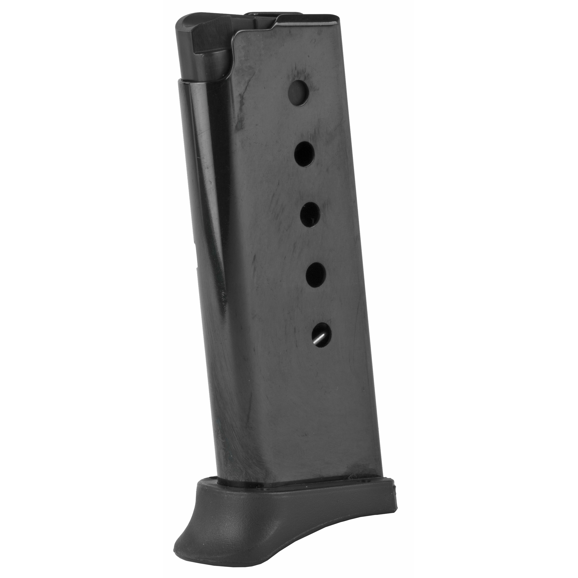 This magazine fits DB380 models and holds 6 rounds of .380 ACP ammunition. It features a metal alloy body and is made using the same manufacturing and materials as the original equipment magazines