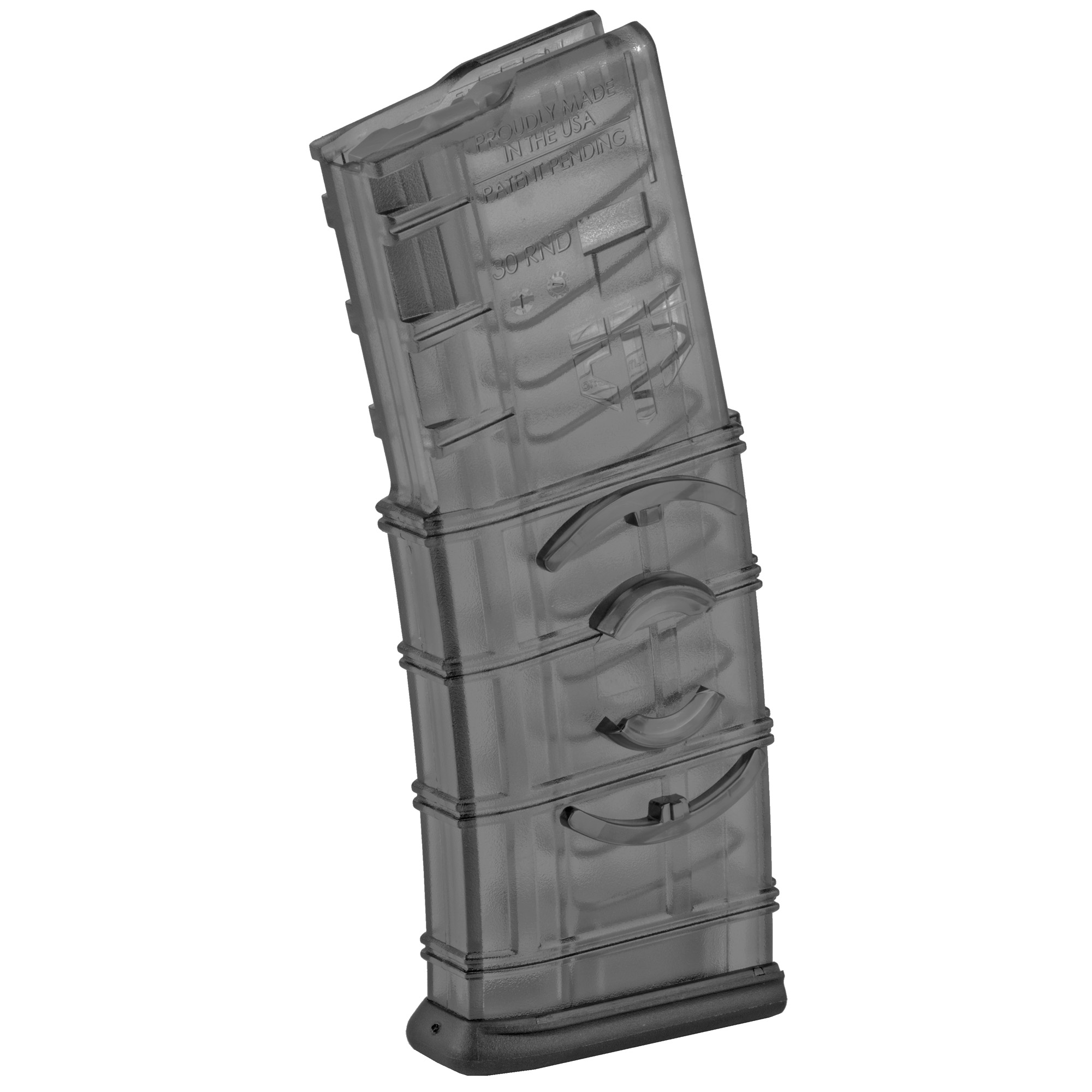 """This ETS AR-15 magazine features extreme impact resistance"""" a No-Tilt follower"""" and a translucent body that allows you to see your ammo count and type. A Built-in coupler allows multiple mags to be connected together in seconds with no tools or extra parts."""