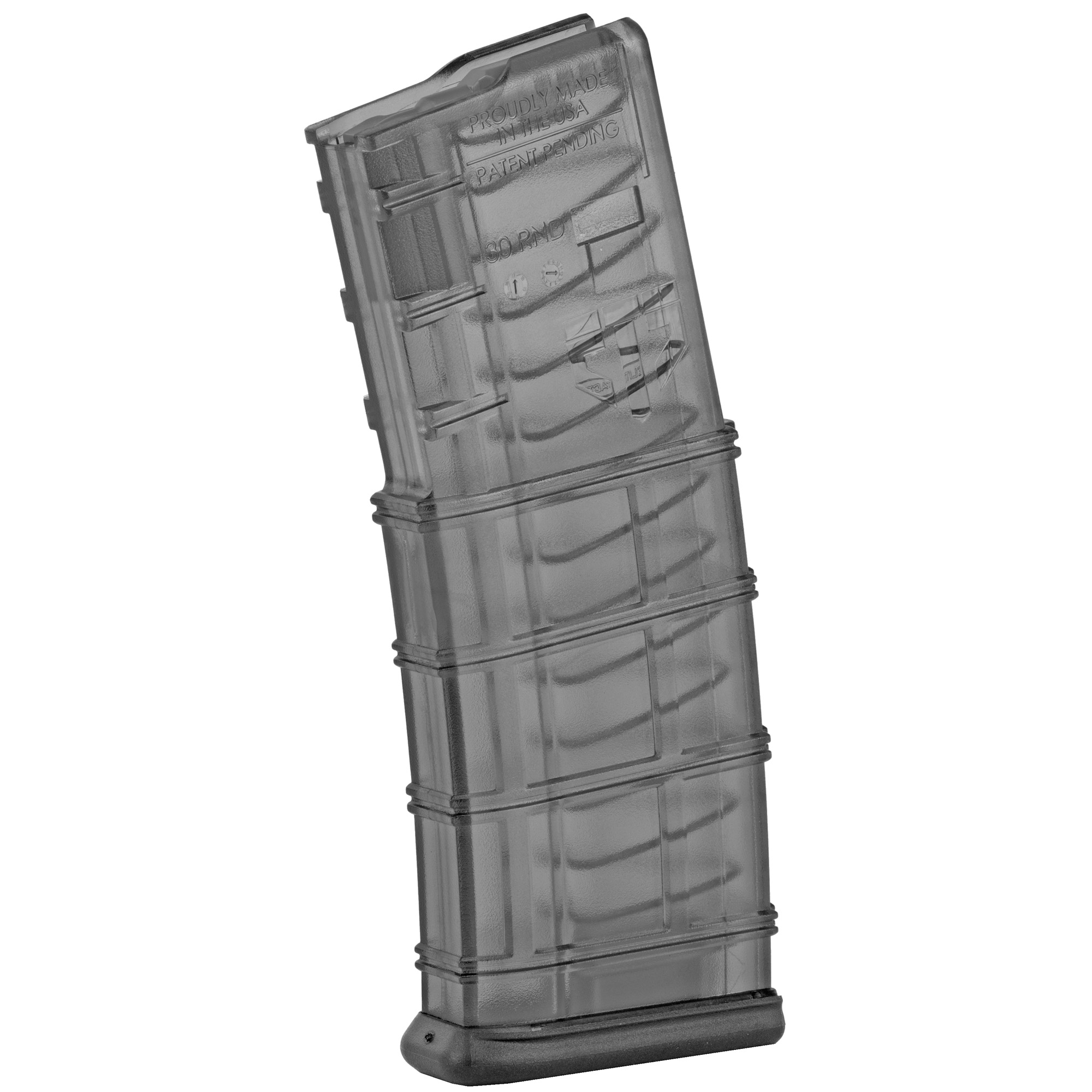 """This ETS AR-15 magazine features extreme impact resistance"""" a No-Tilt follower"""" and a translucent body that allows you to see your ammo count and type. The ergonomically designed floorplate makes it easy to grab from mag pouches."""
