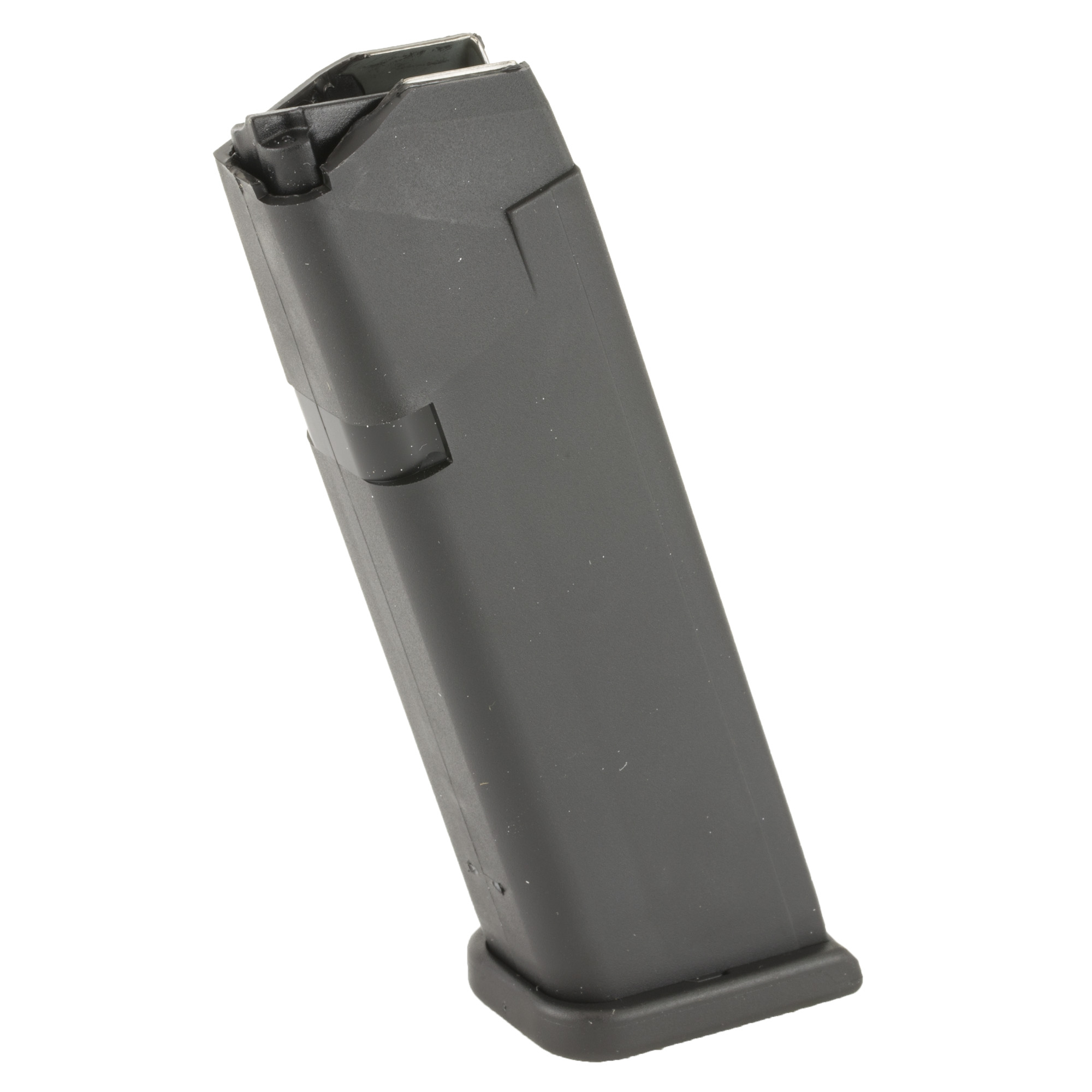 "Each GLOCK magazine is constructed from a hardened steel insert encased in high tech polymer to protect the magazine and prevent deformation"" even when dropped from a great height. The high quality spring and follower ensure reliable feeding from the first to the last shot."