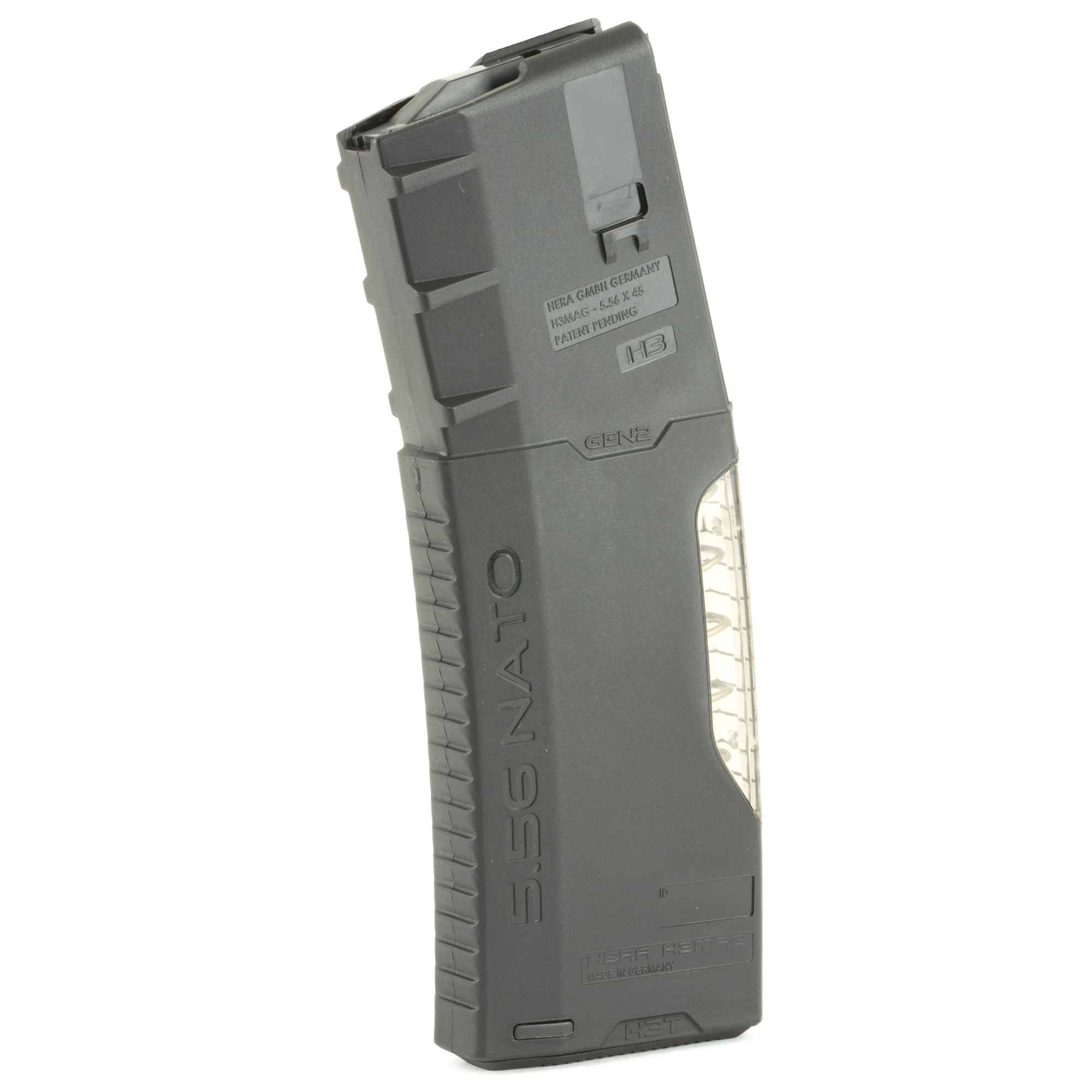 """The HERA H3T Gen-2 magazines feature a transparent frame allowing you to quickly check your round count. Constructed of high impact reinforced polymer with superior springs"""" you can expect superb function from HERA magazines."""