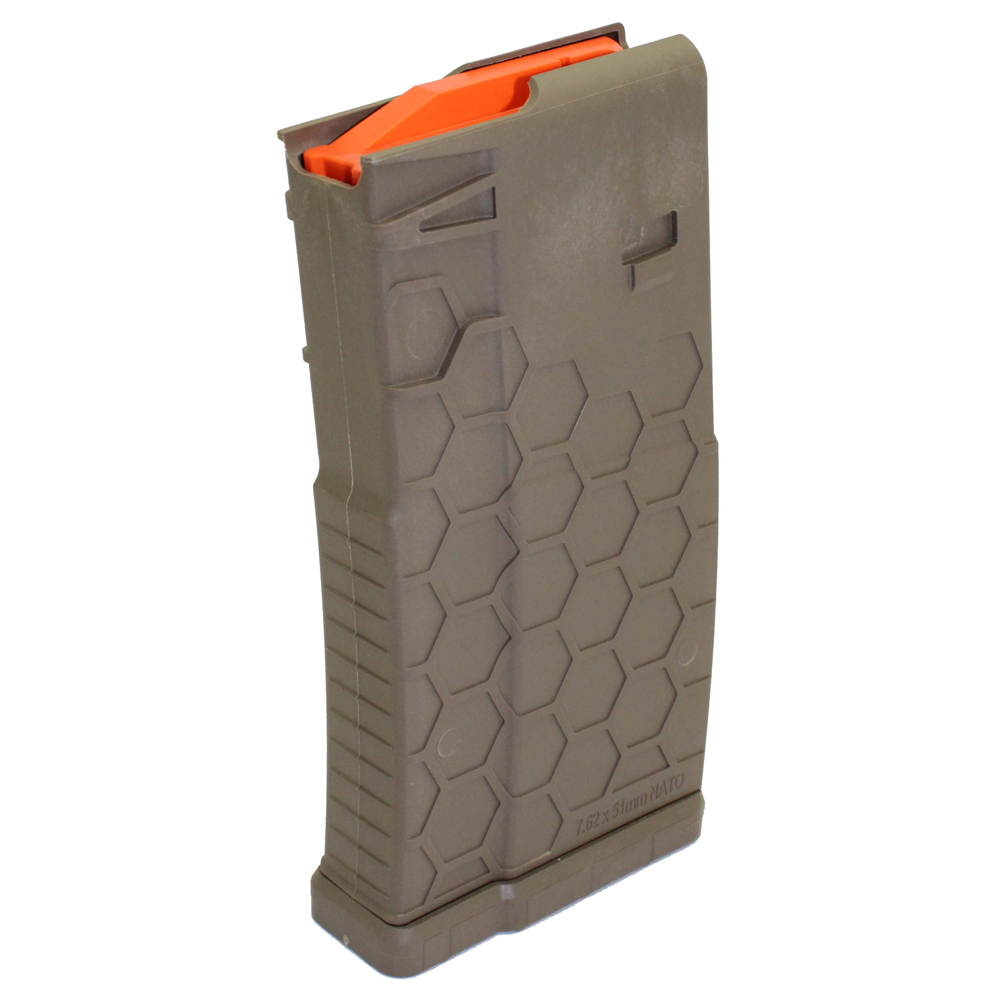 """Whether you're on the hunt or engaging a long-range target"""" you need a heavy-duty caliber that delivers power and precision"""" and When Every Round Counts"""" you can trust the SENTRY's Hexmag AR10/.308 SR25 magazine. These rugged magazines are constructed with SENTRY's iconic Hexture design pattern for durability"""" dependability and exceptional performance."""