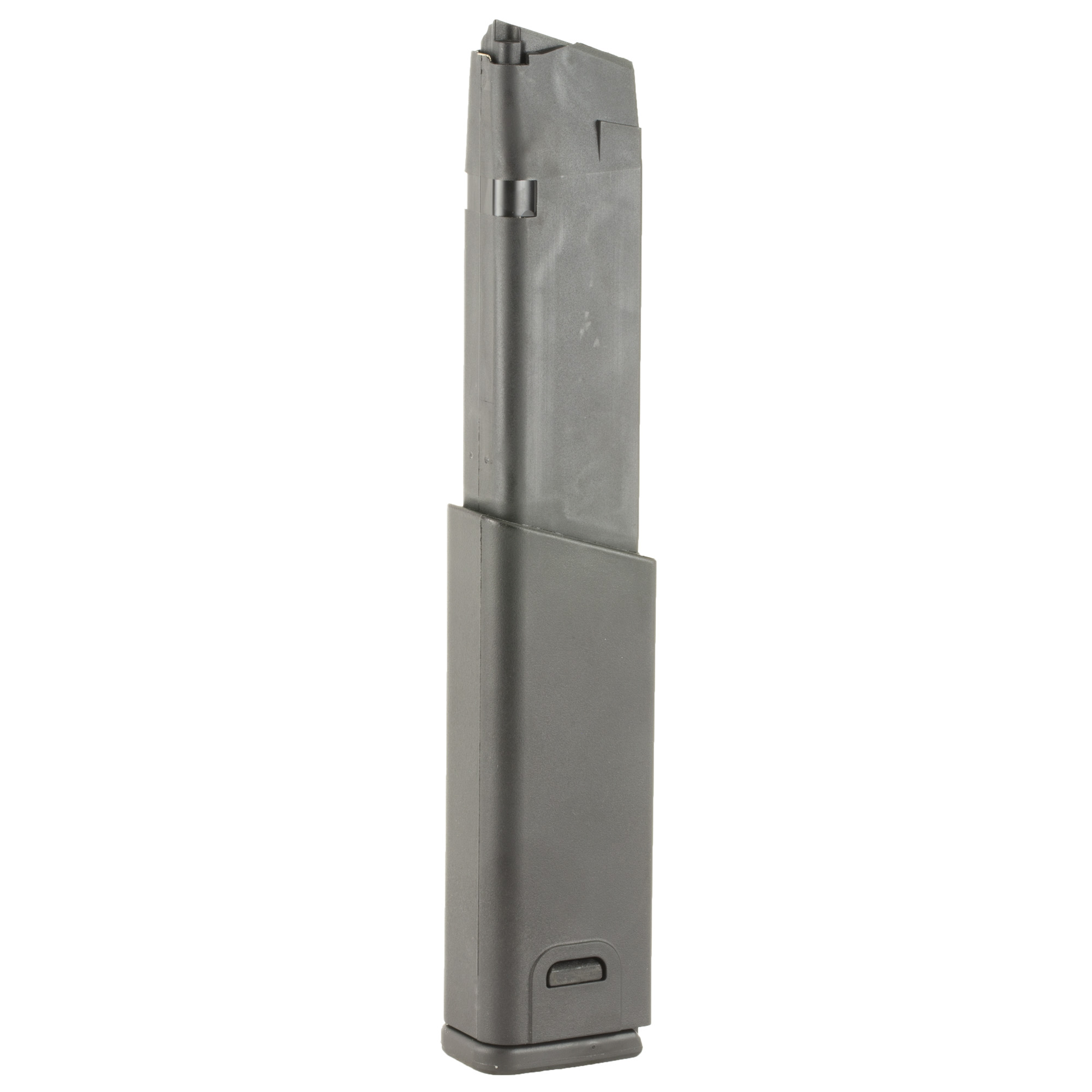 """The original KRISS MagEx extended magazine is a fully assembled MagEx Kit with a factory standard Glock 21 Magazine. The MagEx is the perfect match of reliable feeding"""" toughness"""" and aesthetics for the KRISS Vector. The MagEx is available .45ACP for an overall capacity of 25+ rounds for your KRISS Vector or Glock handgun."""