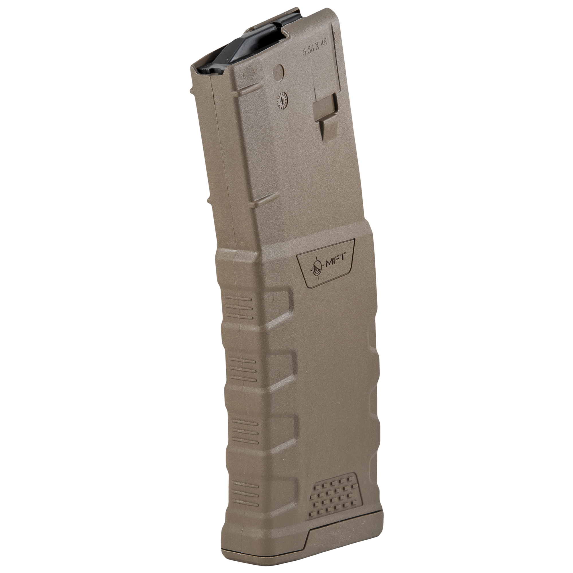 """This magazine utilizes new material technology and manufacturing processes for enhanced strength"""" durability"""" and reliability to exceed demanding military performance specifications. It is designed for the AR15/M4 but is compatible with a wide range of non-AR15/M4 platforms."""