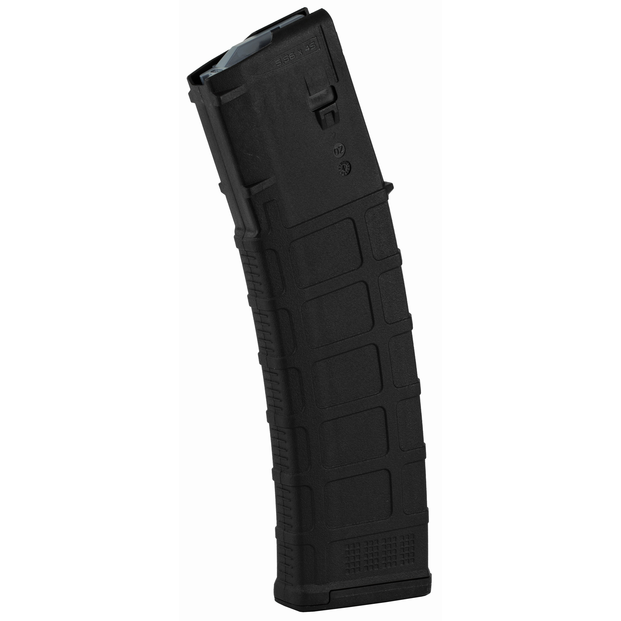 """The next-generation PMAG 40 GEN M3 is a 40-round 5.56x45 NATO (.223 Remington) polymer magazine for AR15/M4 compatible weapons. Along with expanded feature set and compatibility"""" the GEN M3 incorporates new material technology and manufacturing processes for enhanced strength"""" durability"""" and reliability to exceed rigorous military performance specifications. While the GEN M3 is optimized for Colt-spec AR15/M4 platforms"""" modified internal and external geometry also permits operation with a range of additional weapons such as the HK(R) 416/MR556A1/M27 IAR"""" British SA-80"""" FN(R) SCAR(TM) MK 16/16S"""" and others."""