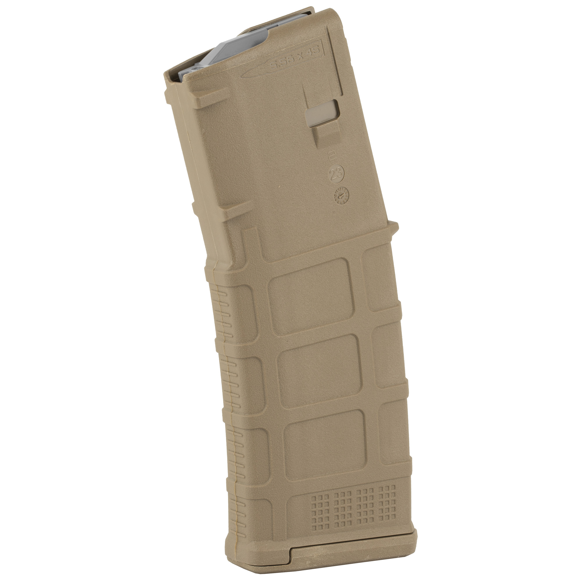 """The next-generation PMAG 30 GEN M3 is a 30-round 5.56x45 NATO (.223 Remington) polymer magazine for AR15/M4 compatible weapons. Along with expanded feature set and compatibility"""" the GEN M3 incorporates new material technology and manufacturing processes for enhanced strength"""" durability"""" and reliability to exceed rigorous military performance specifications. While the GEN M3 is optimized for Colt-spec AR15/M4 platforms"""" modified internal and external geometry also permits operation with a range of additional weapons such as the HK(R) 416/MR556A1/M27 IAR"""" British SA-80"""" FN(R) SCAR(TM) MK 16/16S"""" and others"""