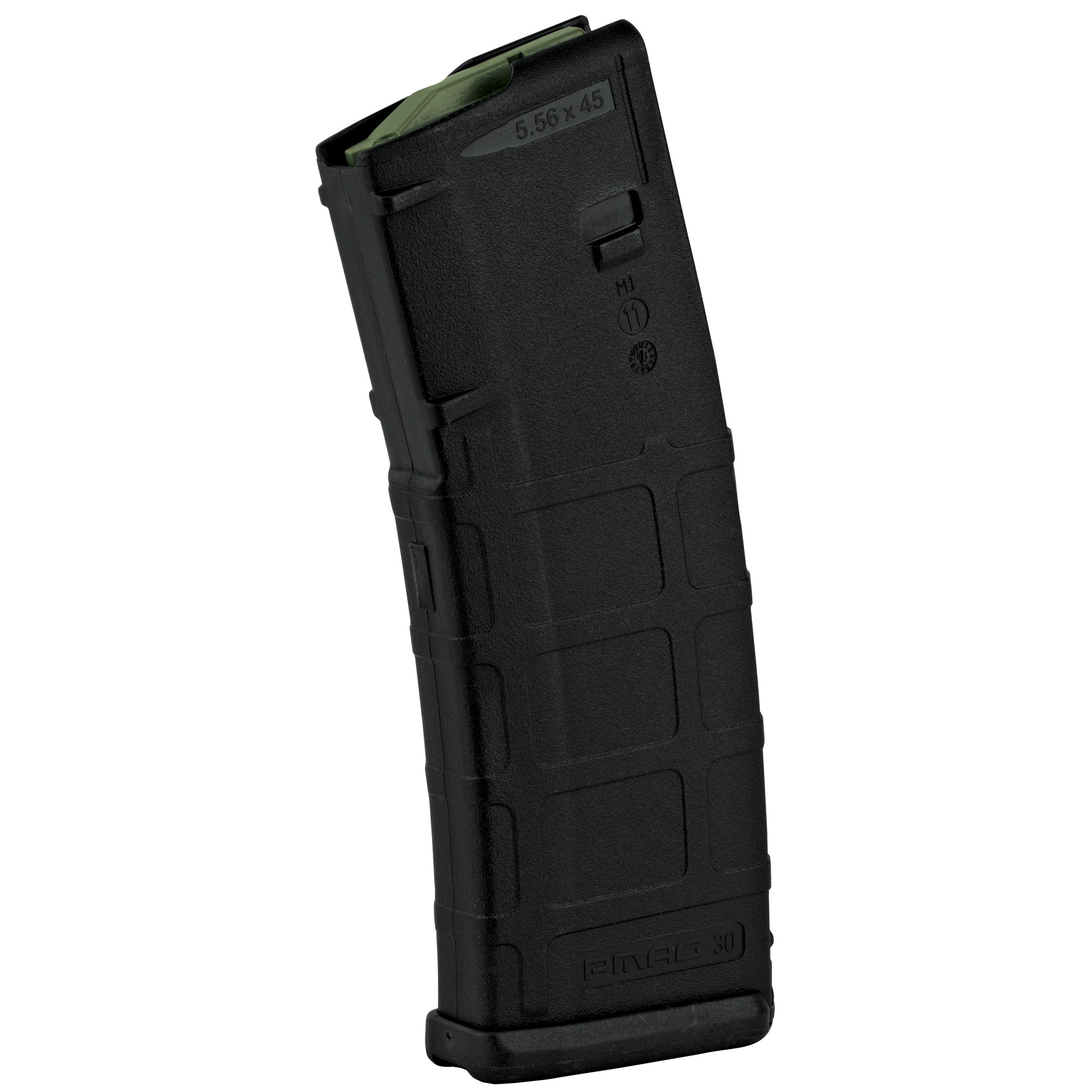 """The PMAG 30 AR/M4 GEN M2 MOE is a 30-round 5.56x45 NATO (.223 Remington) AR15/M4 compatible magazine that offers a cost competitive upgrade from the aluminum USGI. It features an impact resistant polymer construction"""" easy to disassemble design with a flared floorplate for positive magazine extraction"""" resilient stainless steel spring for corrosion resistance"""" and an anti-tilt"""" self-lubricating follower for increased reliability."""