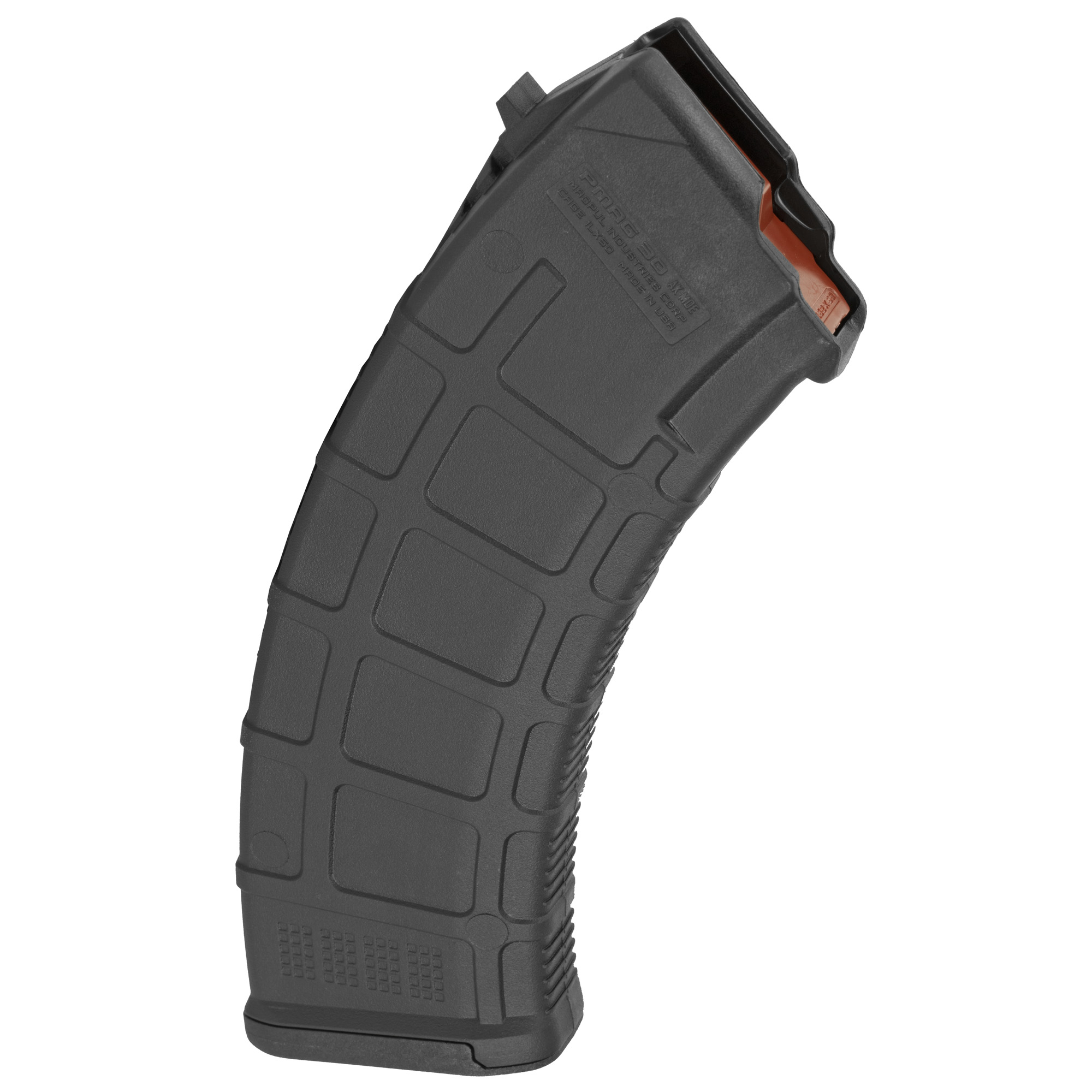 """The PMAG 30 AK/AKM MOE is an inexpensive"""" lightweight"""" high reliability 30-round polymer magazine designed for Kalashnikov pattern rifles in 7.62x39mm (AK-47"""" AKM"""" AKS"""" SIG556R and others.) It features a removable floorplate"""" constant curve geometry"""" and a high-reliability/low-friction follower for the affordable performance you expect from a MOE PMAG."""