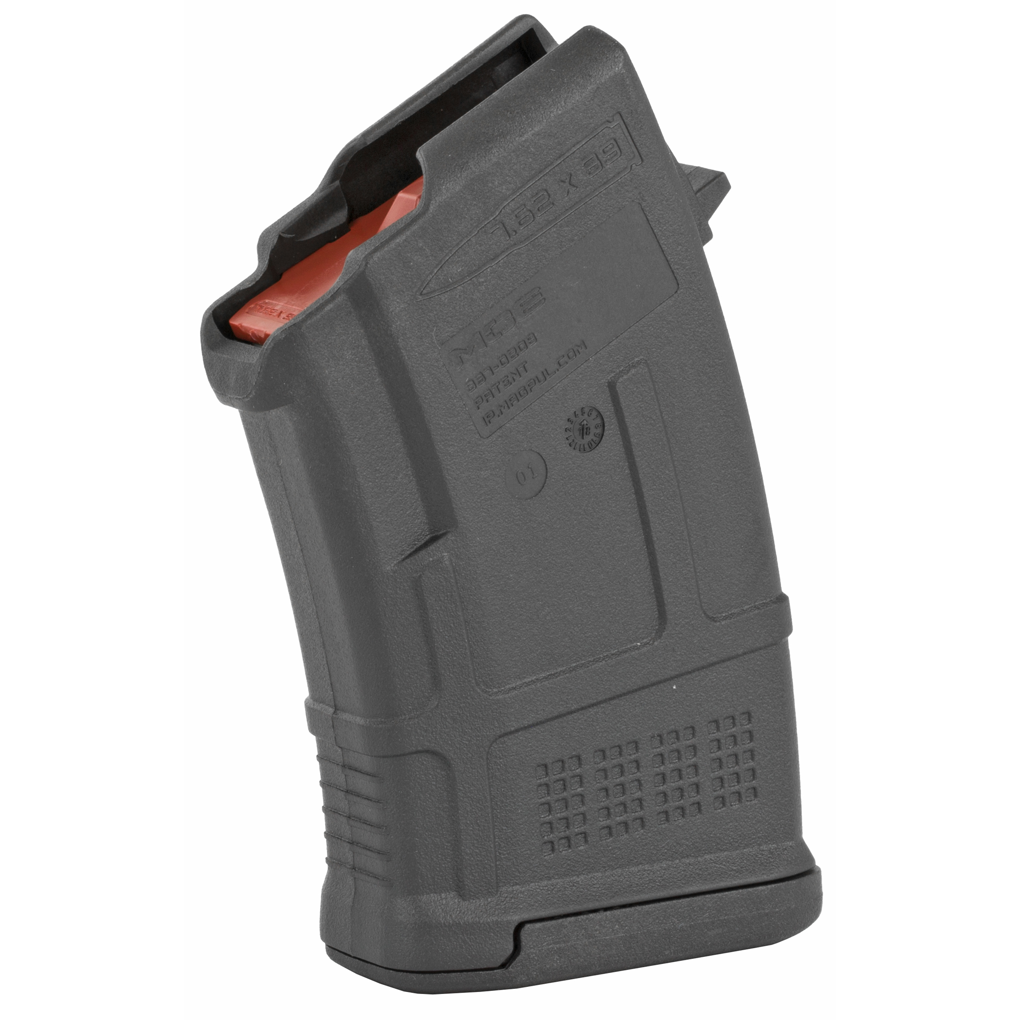 """The PMAG 10 AK/AKM MOE is an inexpensive"""" lightweight"""" high reliability 10-round polymer magazine designed for Kalashnikov pattern rifles in 7.62x39mm (AK-47"""" AKM"""" AKS"""" SIG556R"""" and others.) It features a removable floorplate"""" constant curve geometry"""" and a high-reliability/low-friction follower for the affordable performance you expect from a MOE PMAG. Made in U.S.A. Magazine counts as three US compliance parts for 922(r)."""