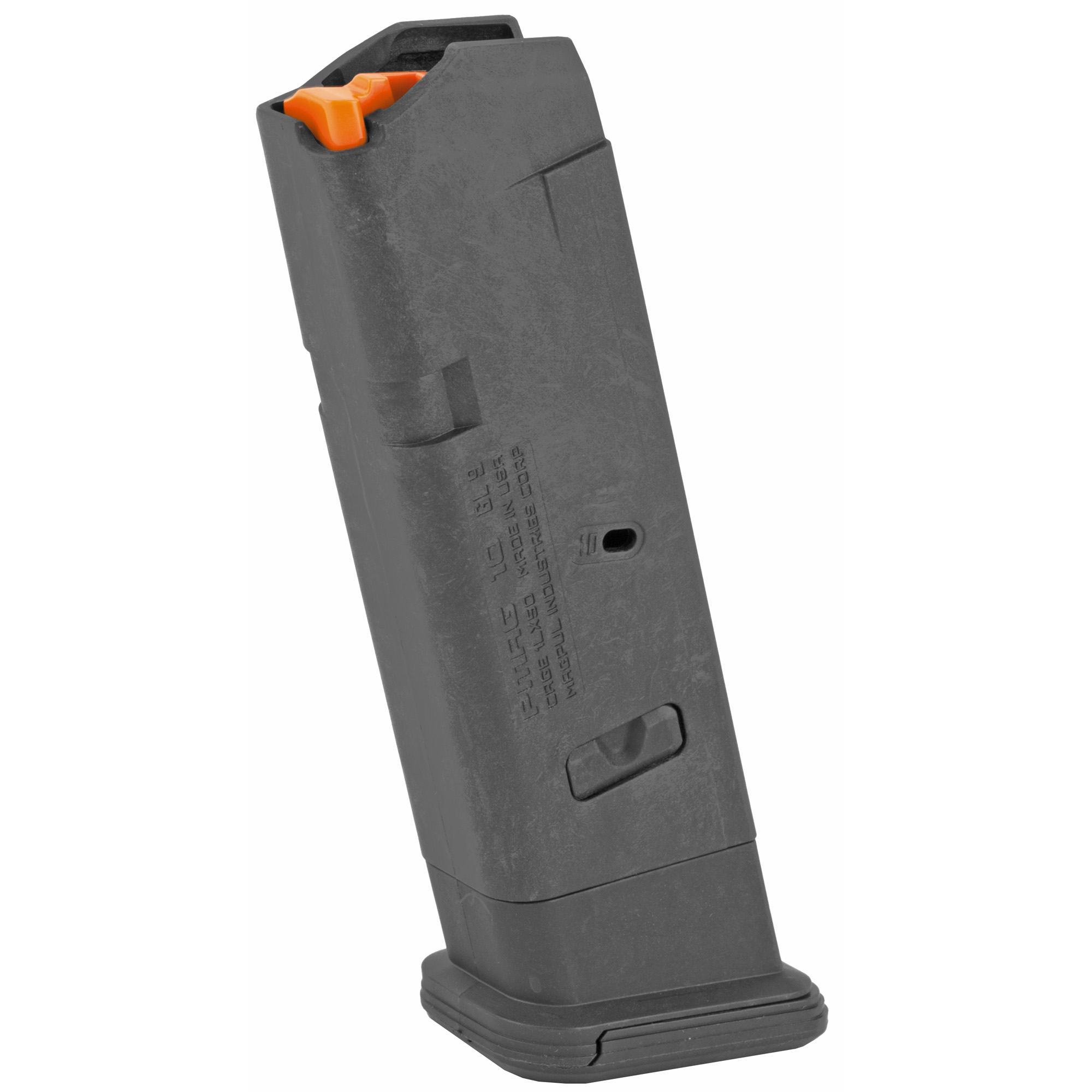 """The Magpul(R) PMAG 10 GL9 - Glock G17 and G19 9x19 Parabellum are the highest performing and most reliable restricted capacity magazines on the market. They are designed to provide the same quality and performance of the proven Magpul PMAG series of Glock magazines while also providing a viable product solution to those in locations and situations where a 10-round capacity restriction is required or desired. Whether for competition use or otherwise"""" the PMAG 10 GL9 is the highest quality restricted capacity magazine option available."""