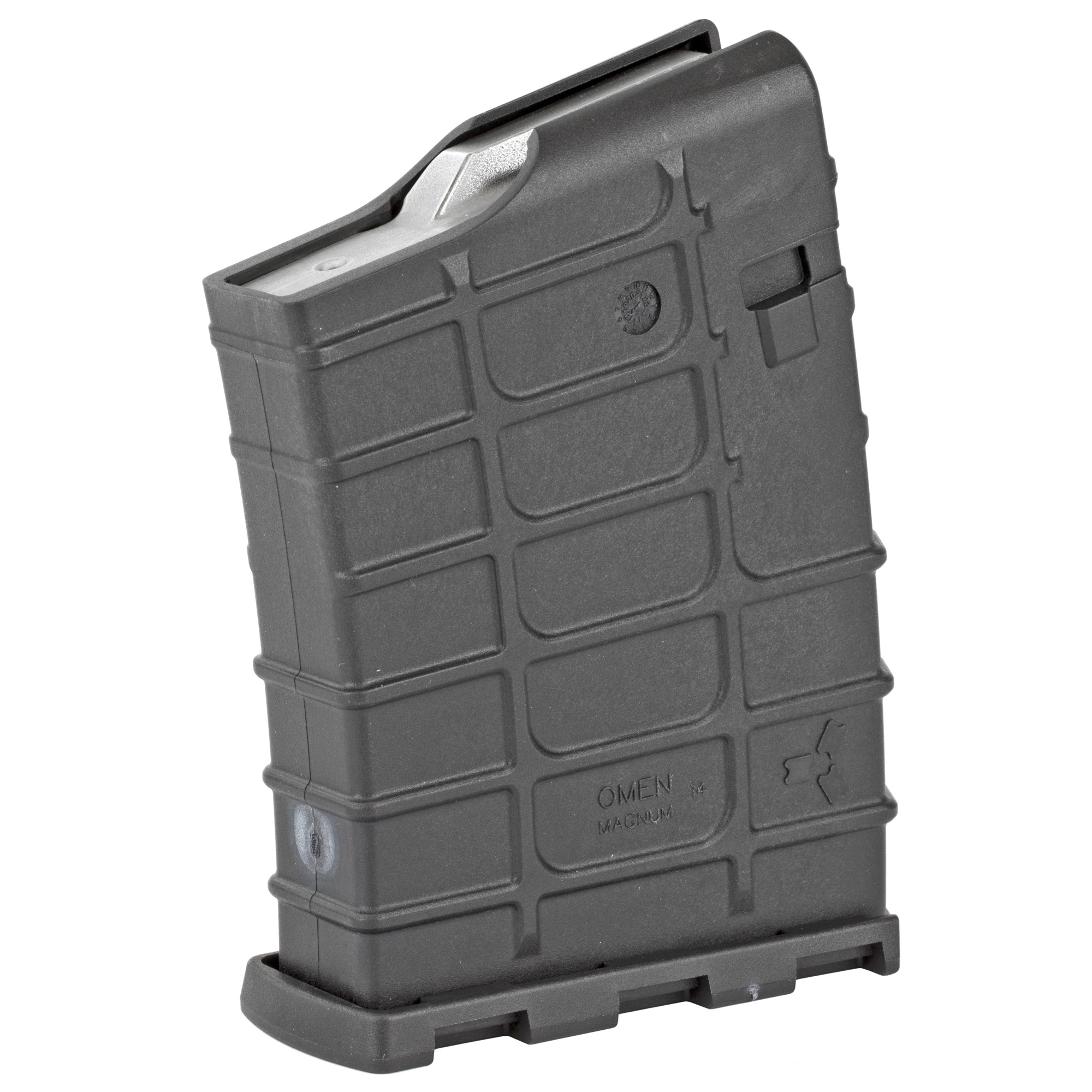 """This rugged polymer magazine was engineered from the ground up based on belted magnums. The magazine features an anti-tilt follower"""" 10 round capacity and stainless steel spring. The magazine disassembles easily for cleaning. Weighs 7 ounces unloaded. Cartridges that can be used: .300 Winchester Magnum"""" 7mm Remington Magnum and .338 Winchester Magnum. Magazine can accommodate a cartridge up to 3.50"""" overall cartridge length."""