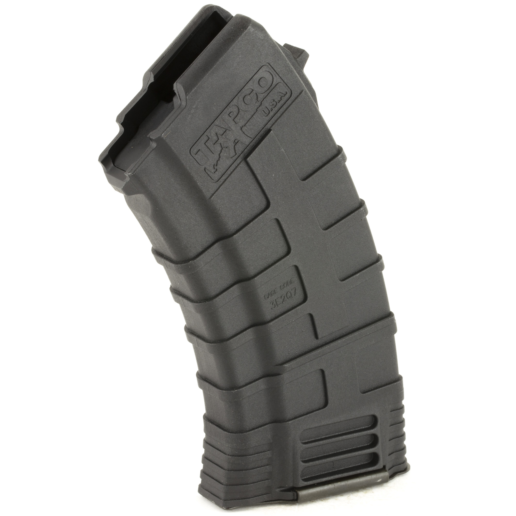"When you want a lighter"" smaller magazine"" the Tapco 20rd AK-47 mag is your solution. It has the same time-tested features and reliability of the 30rd"" but in a more compact 20rd design. The reinforced composite material prevents corrosion while the heavy duty spring and anti-tilt follower ensure that every round will feed perfectly. Fits the AK-47 using 7.62x39mm ammunition. Not to mention that this magazine counts as 3 U.S. 922r compliant parts."